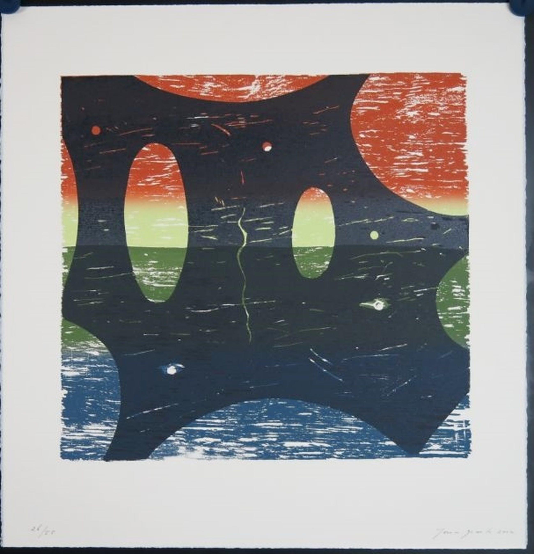 Joris Geurts: Houtsnede, Z.T. (Blauw/zwart) kopen? Bied vanaf 1!
