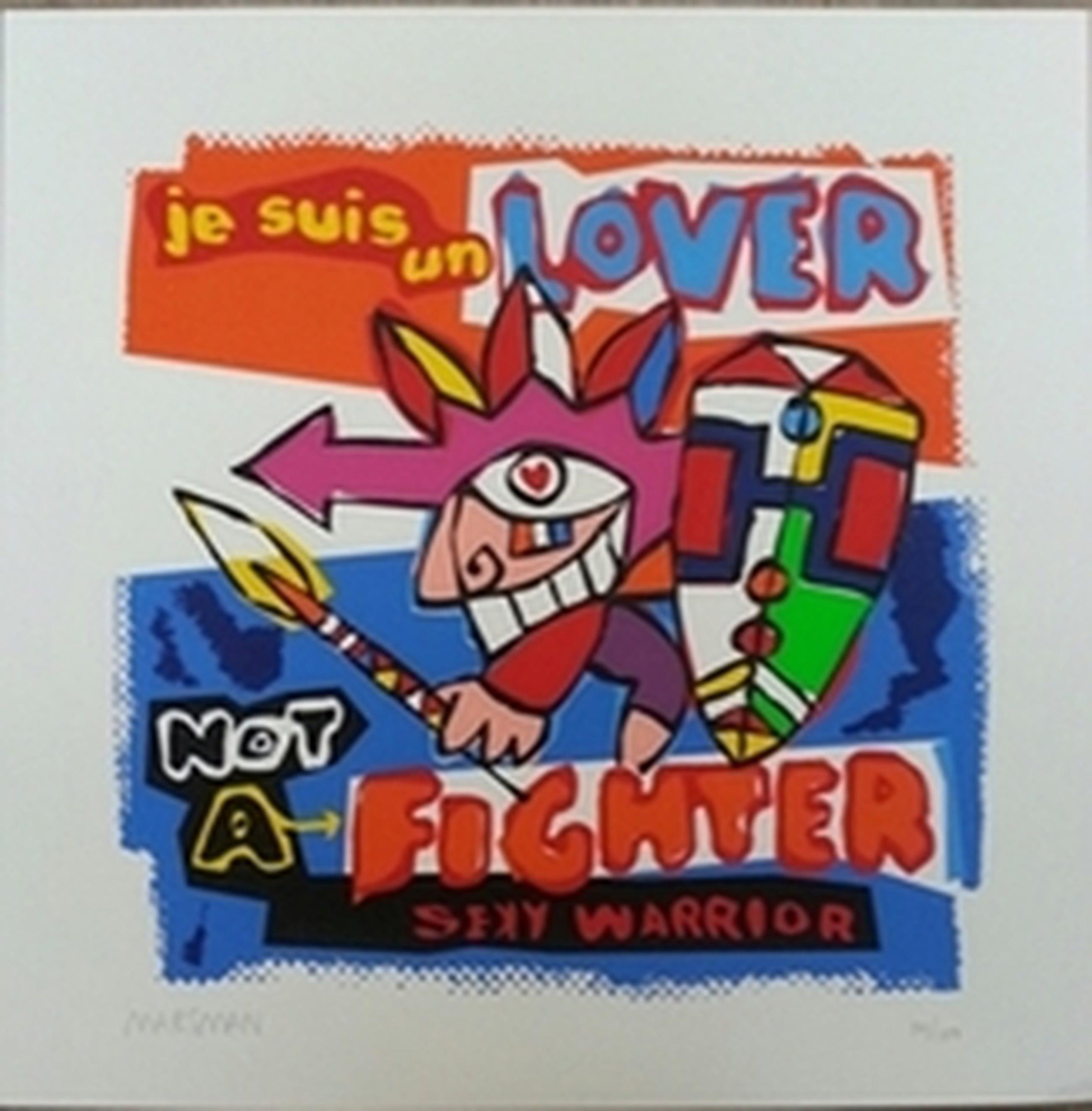 Jean-Paul Marsman, zeefdruk op papier, Titel:  kopen? Bied vanaf 15!