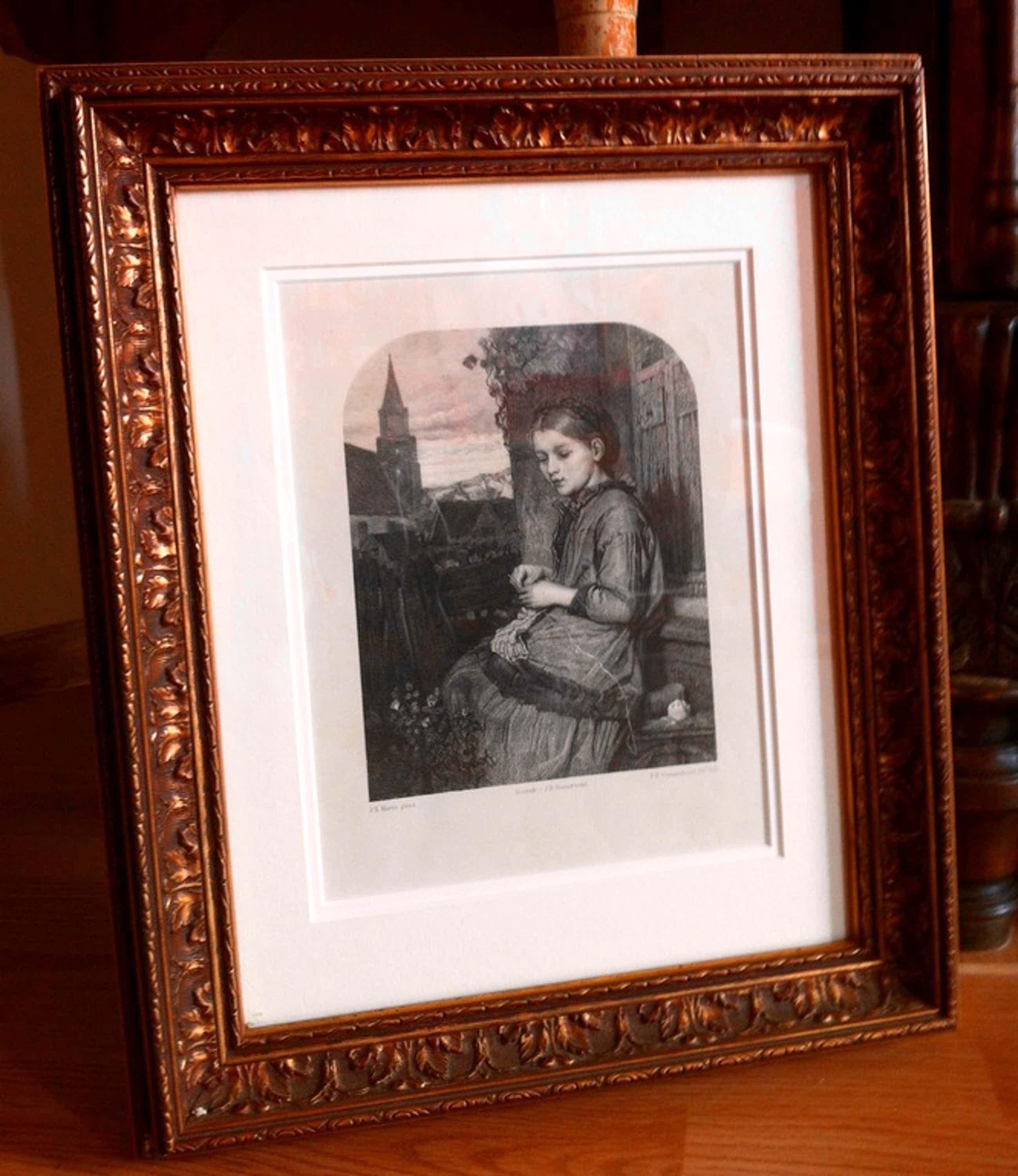 Jacob H. Maris, Meisje met breiwerkje, lithografie door F.H. Weissenbruch  kopen? Bied vanaf 85!