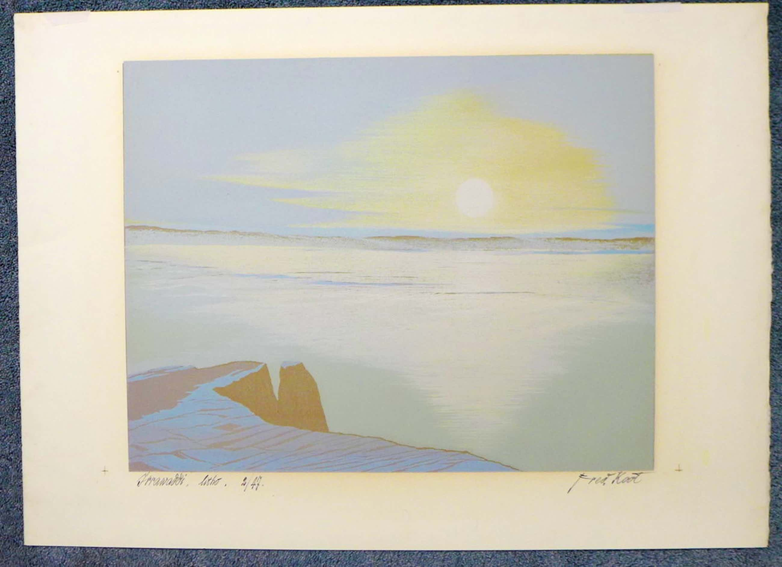 Fred Koot - Fred Koot, litho, titel Jrrawaddi. oplage 2/47 beeldformaat 35 x 44.5 cm.  kopen? Bied vanaf 45!