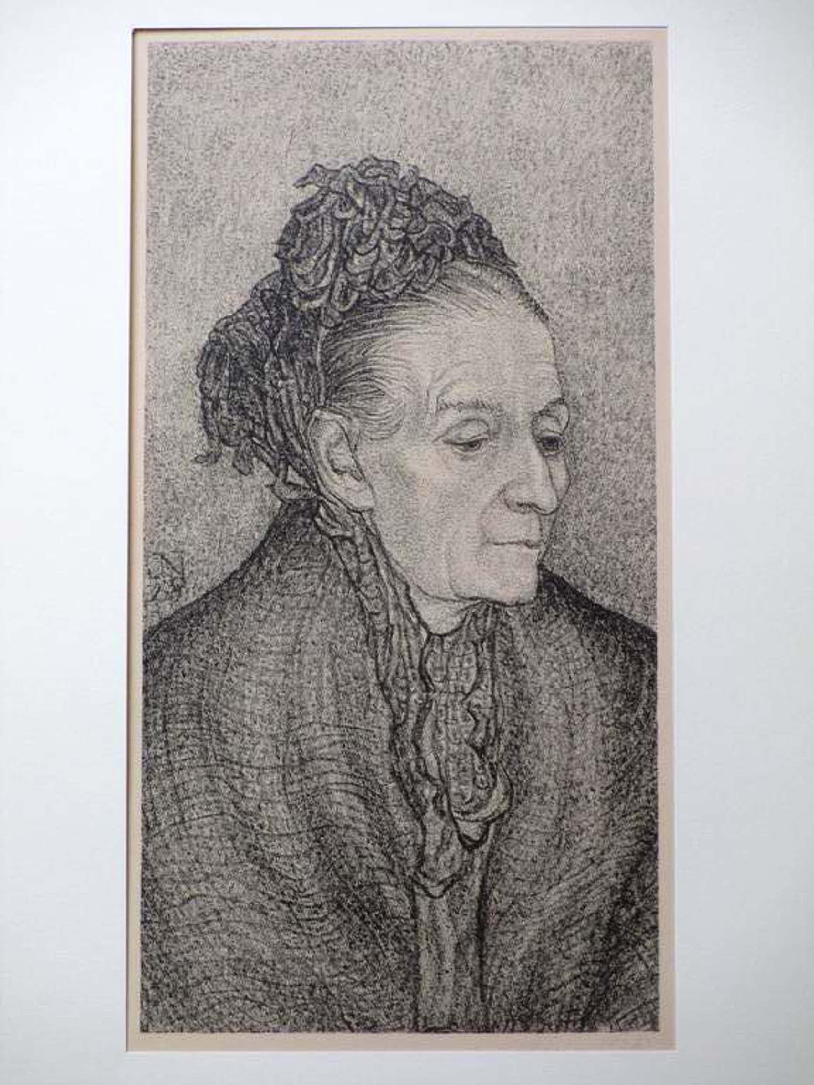 Jakob Nieweg, Portret dame, Litho kopen? Bied vanaf 35!