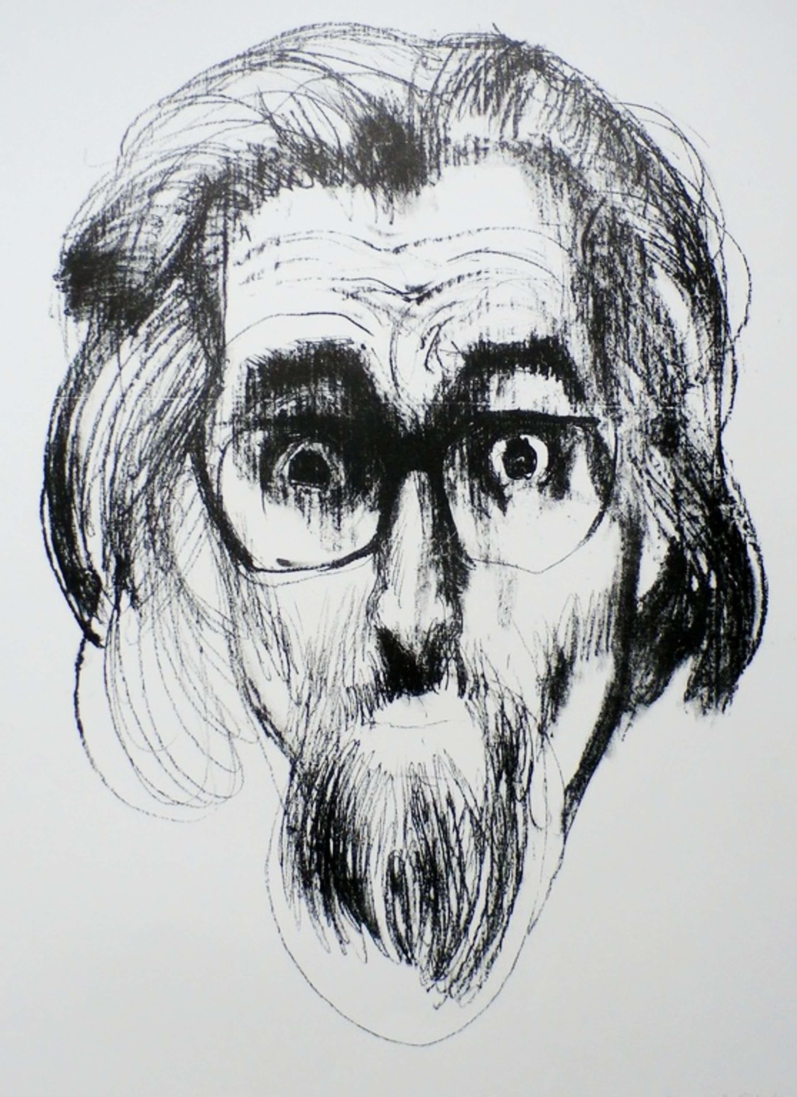 Paul Citroen - Kleurenlitho: zelfportret - 1982 kopen? Bied vanaf 75!