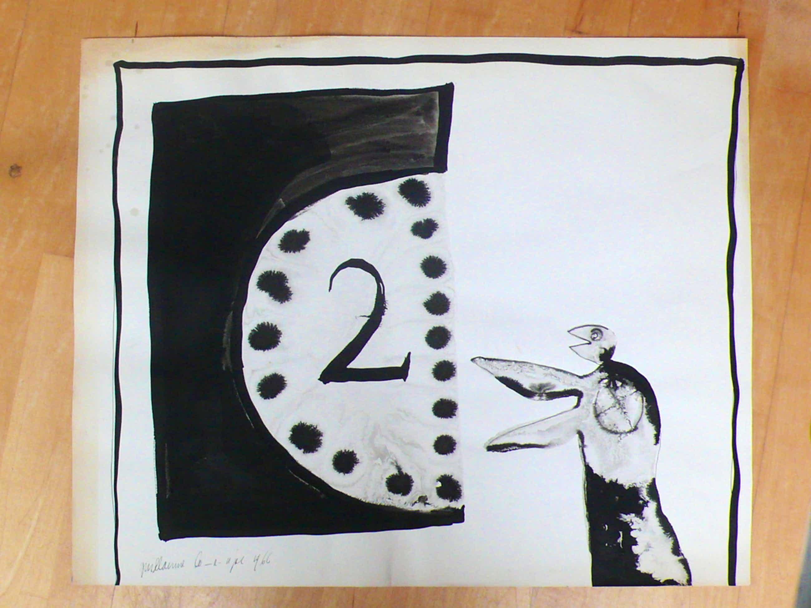 Guillaume Lo-A-Njoe, inkt op papier kopen? Bied vanaf 40!