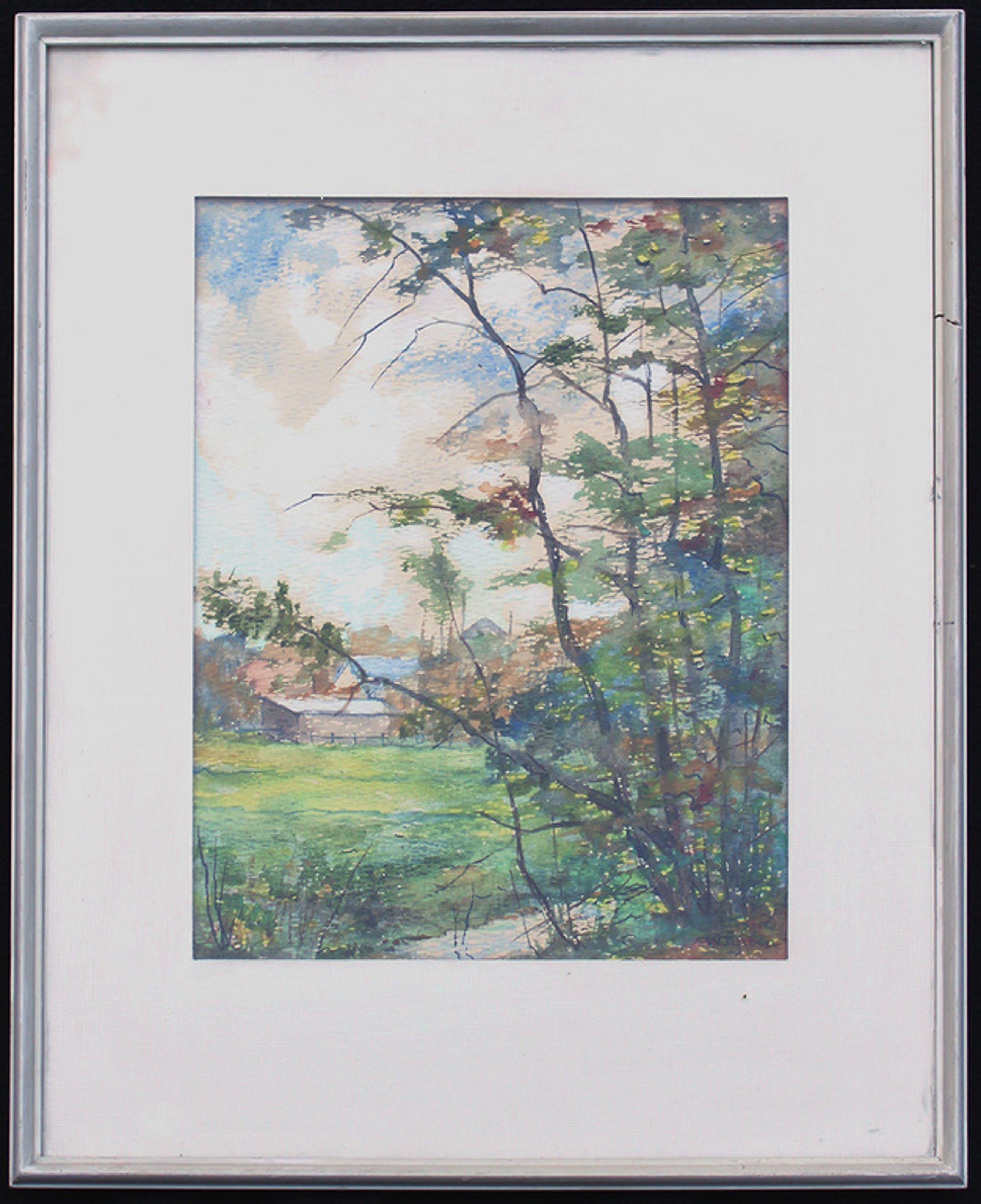 WILLEM TIJSSEN: aquarel/plakkatverf, zonder titel  kopen? Bied vanaf 65!