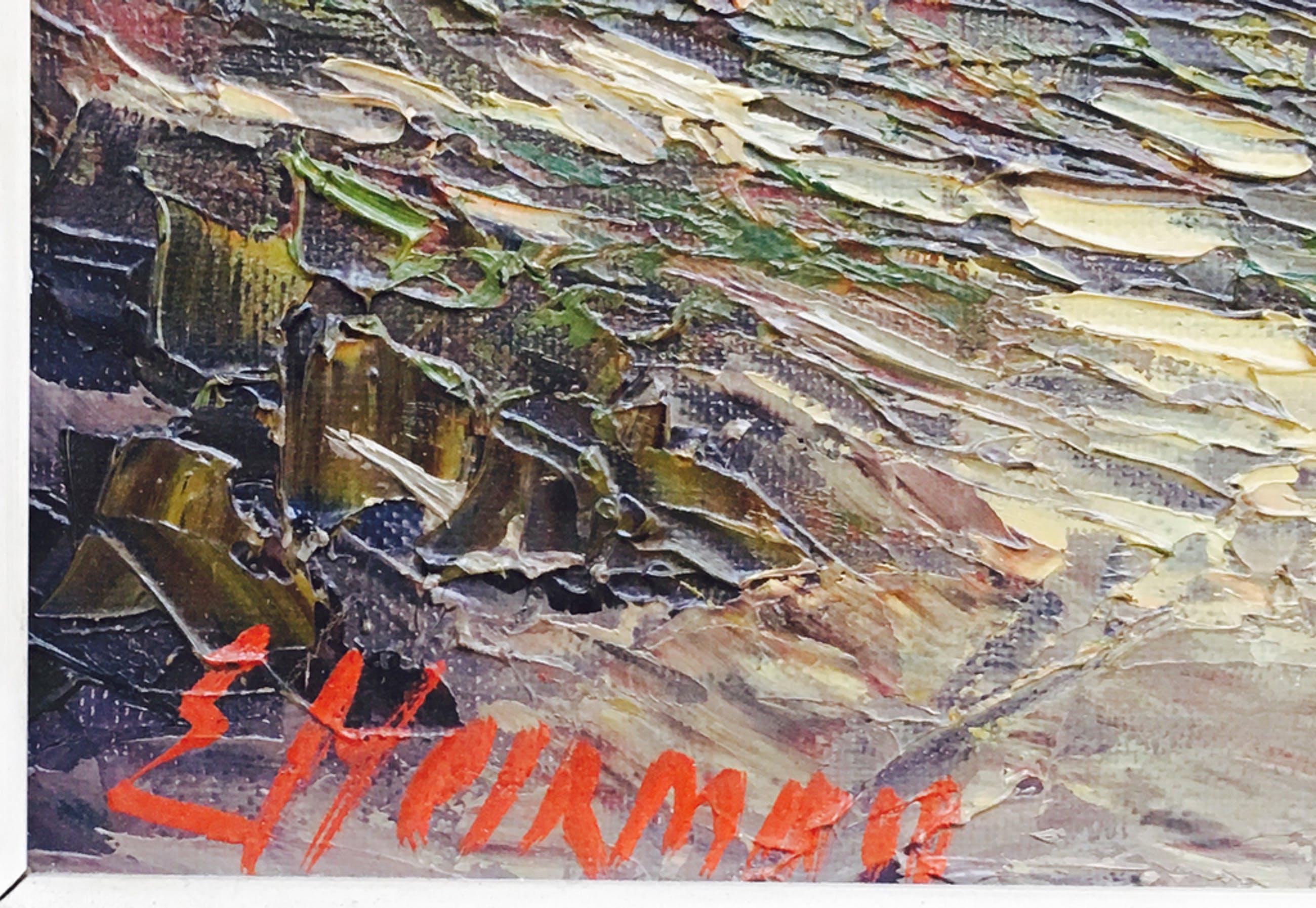 Edgard Heirman (1919-2002)- Heidelandschap - Olie op doek - gekaderd kopen? Bied vanaf 15!
