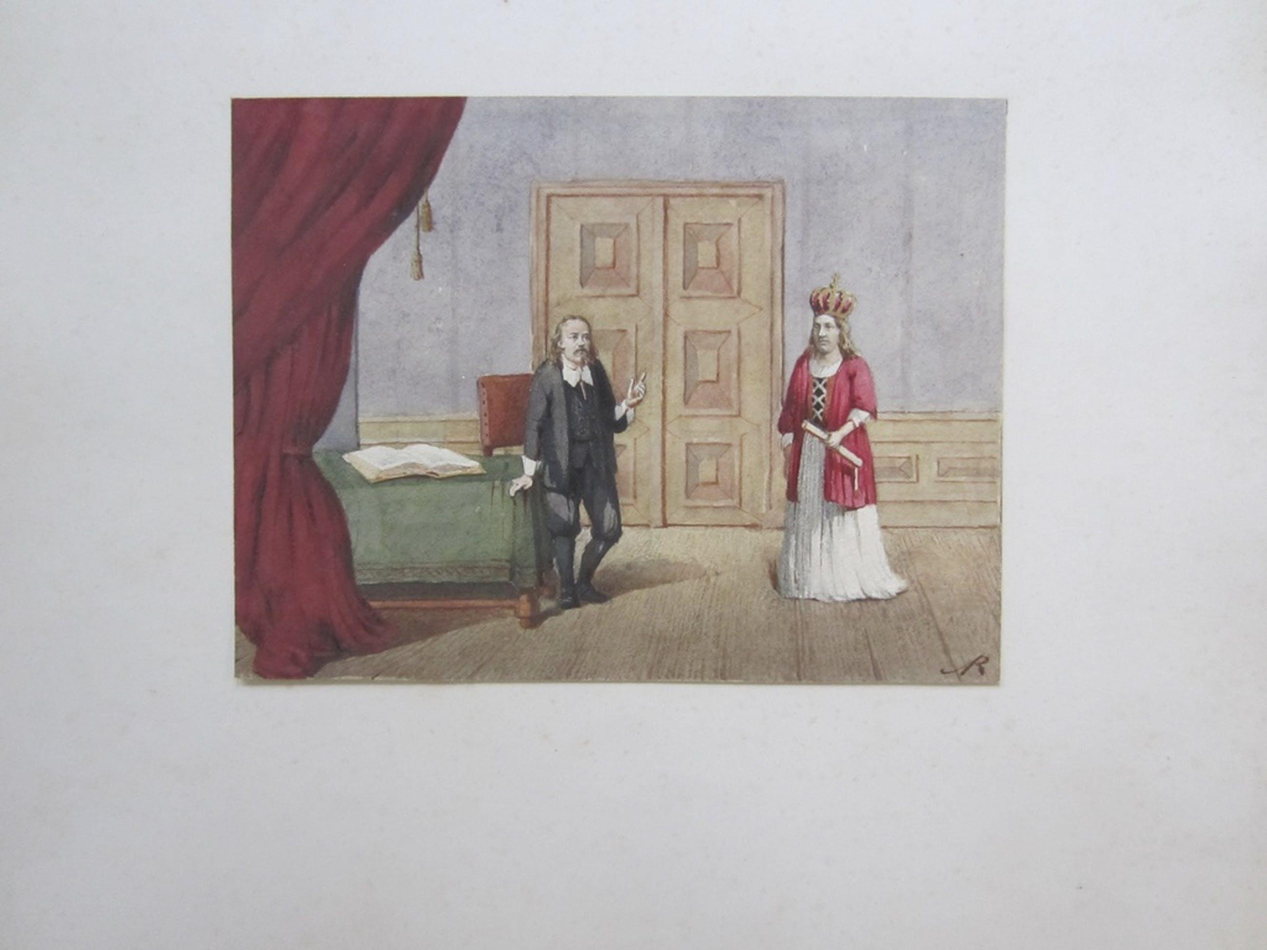 J.M.A. RIEKE 19de EEUWSE AQUAREL TONEELVOORSTELLING AMSTERDAM kopen? Bied vanaf 1!