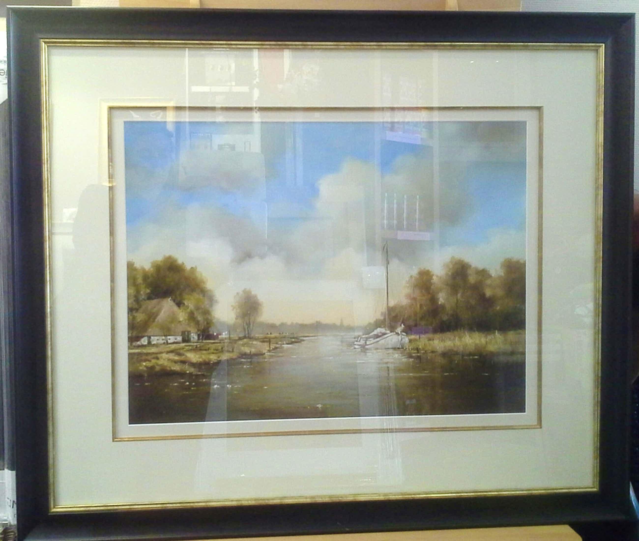 fraaie giclee van een fries landschap van Jan Kooistra, ingelijst kopen? Bied vanaf 75!