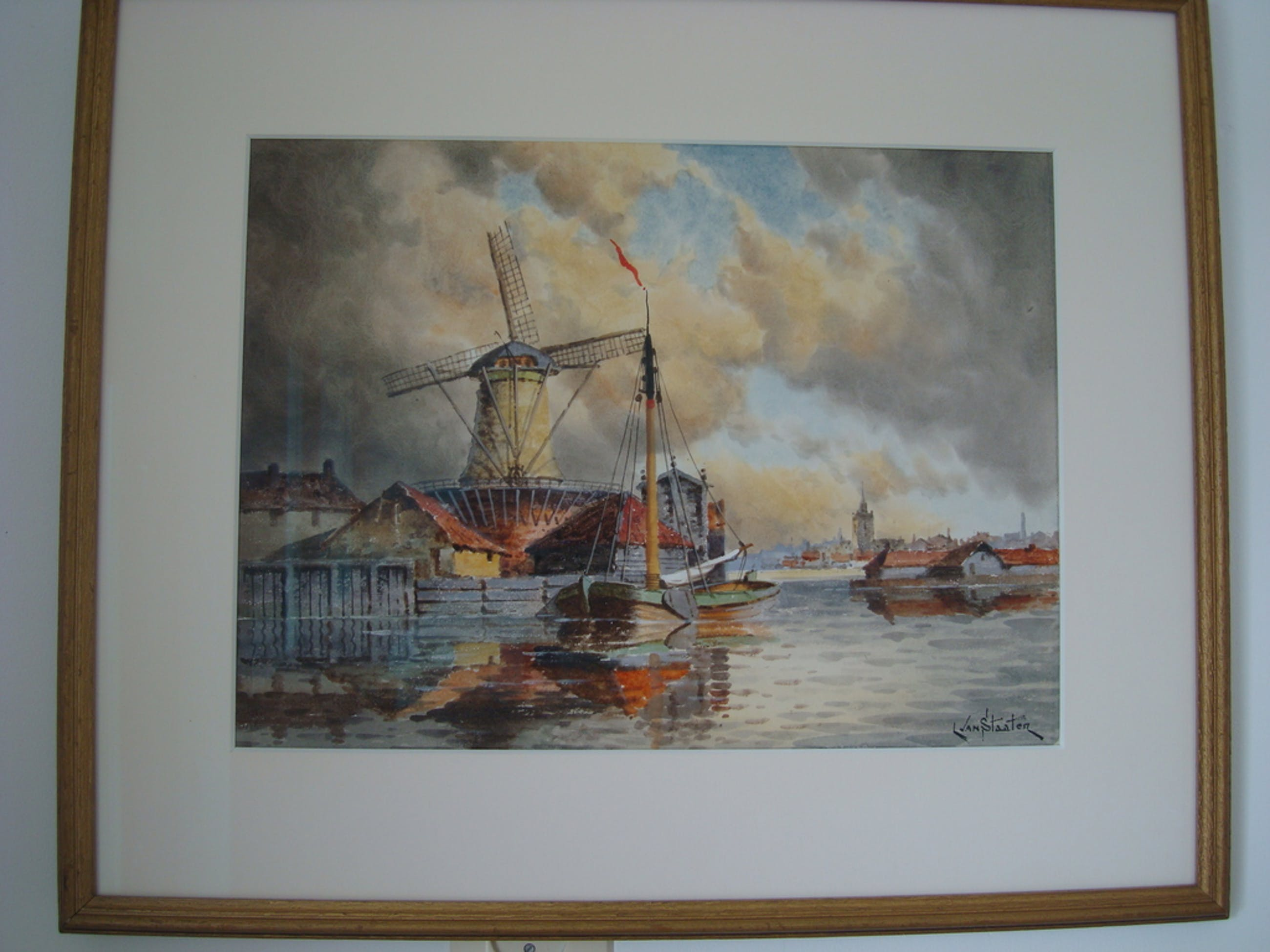 Aquarel van Hermanus Koekoek jr. 1836 - 1909.  kopen? Bied vanaf 495!