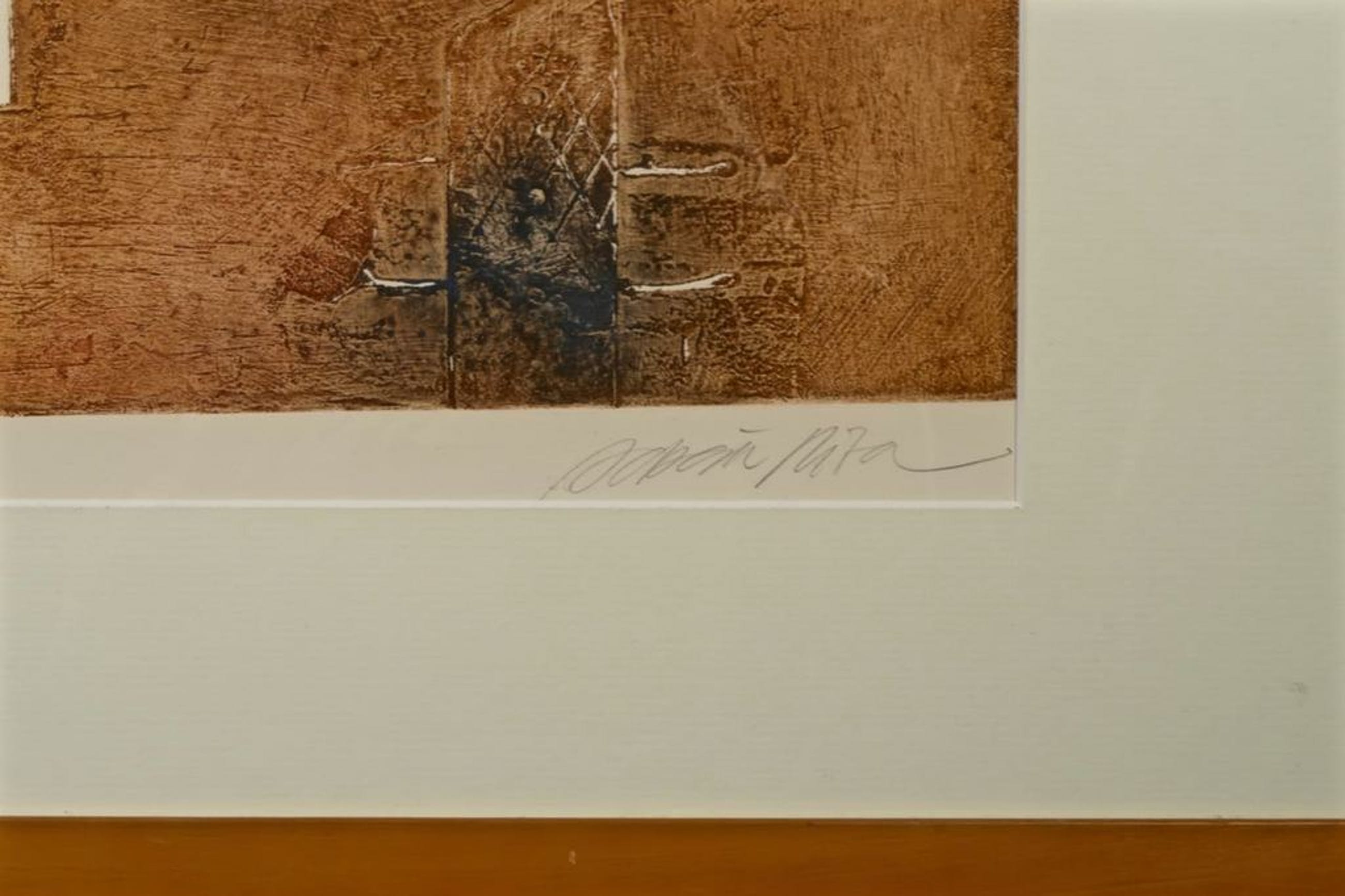 Enric Adsera Riba: Ets, Muren van mijn atelier - Ingelijst (groot) kopen? Bied vanaf 40!