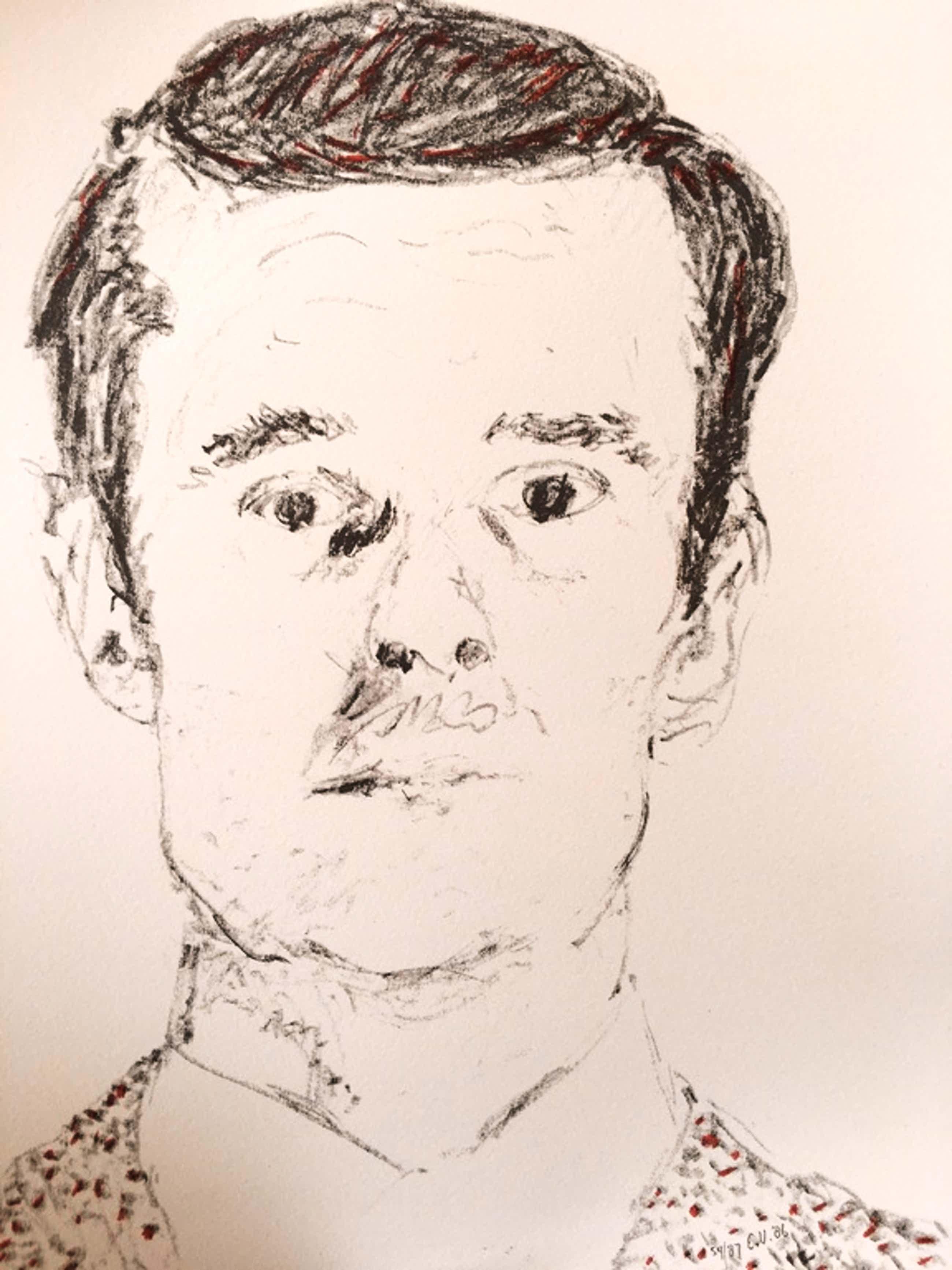 Emo Verkerk, portret van een man litho kopen? Bied vanaf 65!