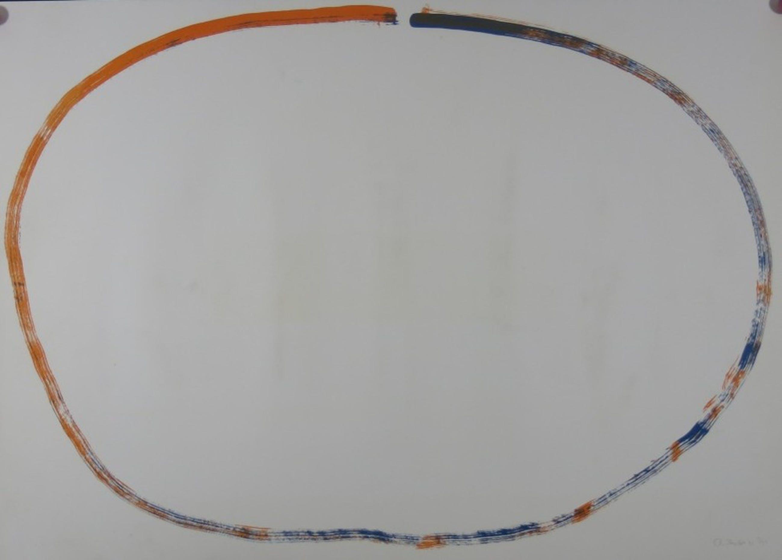 Rob van Koningsbruggen: Litho, Ovaal Oranje/Blauw kopen? Bied vanaf 1!