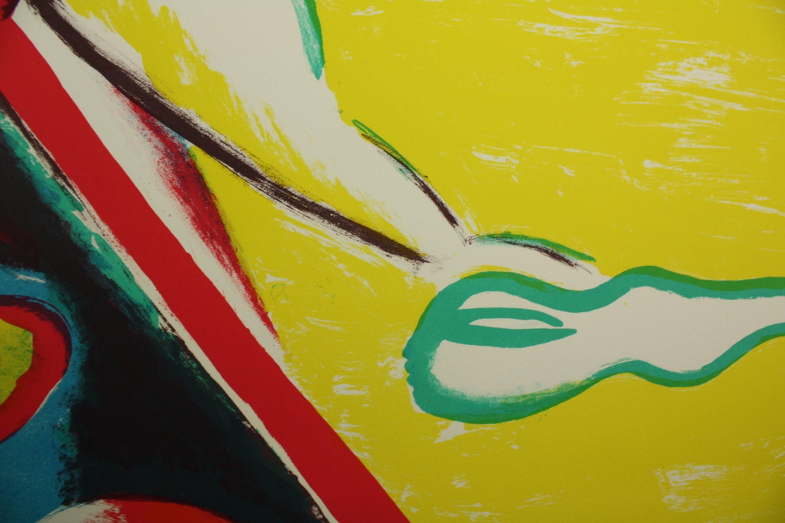 Jorg Remé, kleurenlitho, 1989 kopen? Bied vanaf 49!