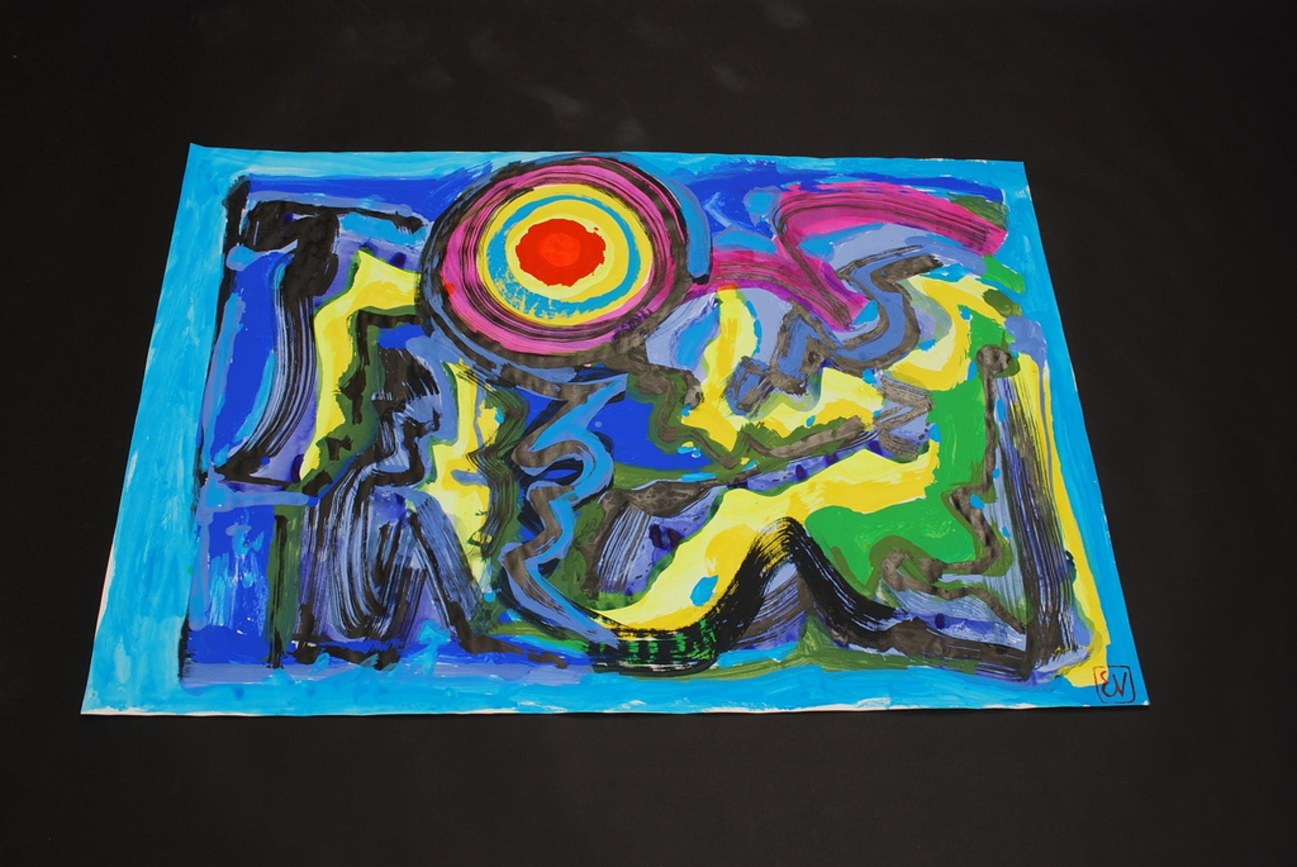 ERNST VIJLBRIEF (1934-2010) Gouache op papier kopen? Bied vanaf 1!