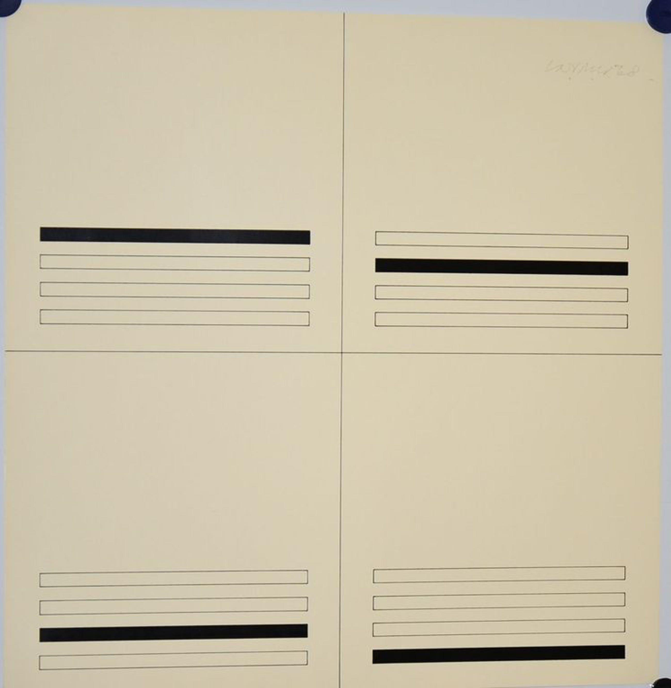 Carel Visser: Zeefdruk. Compositie met lijnen kopen? Bied vanaf 70!