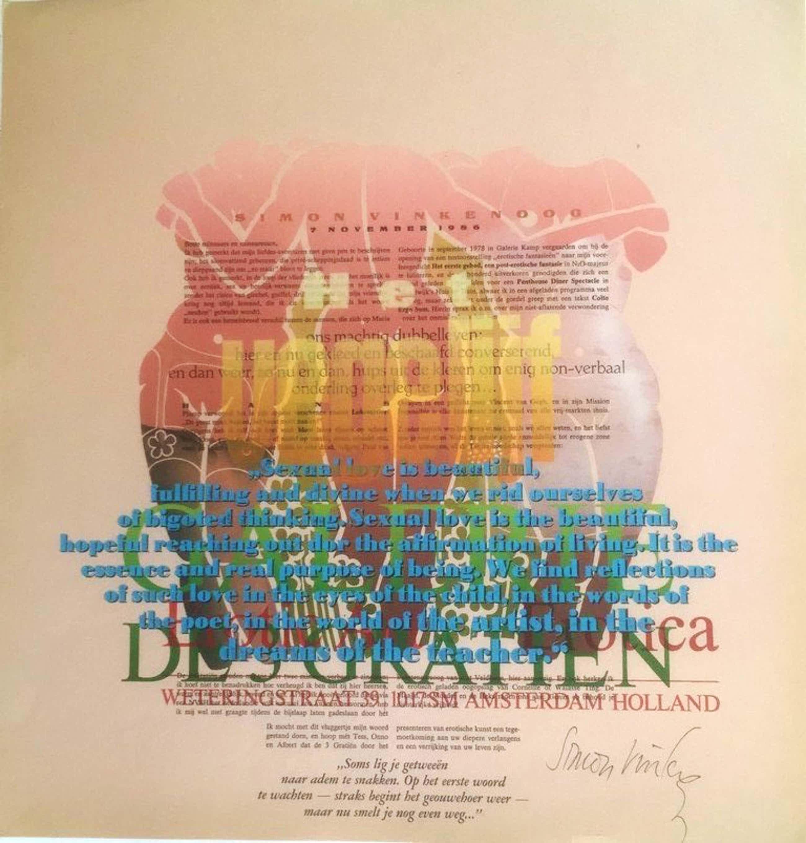 Simon Vinkenoog: Typografische Kleurenlitho, Openingsspeech De3 Gratiën. kopen? Bied vanaf 55!