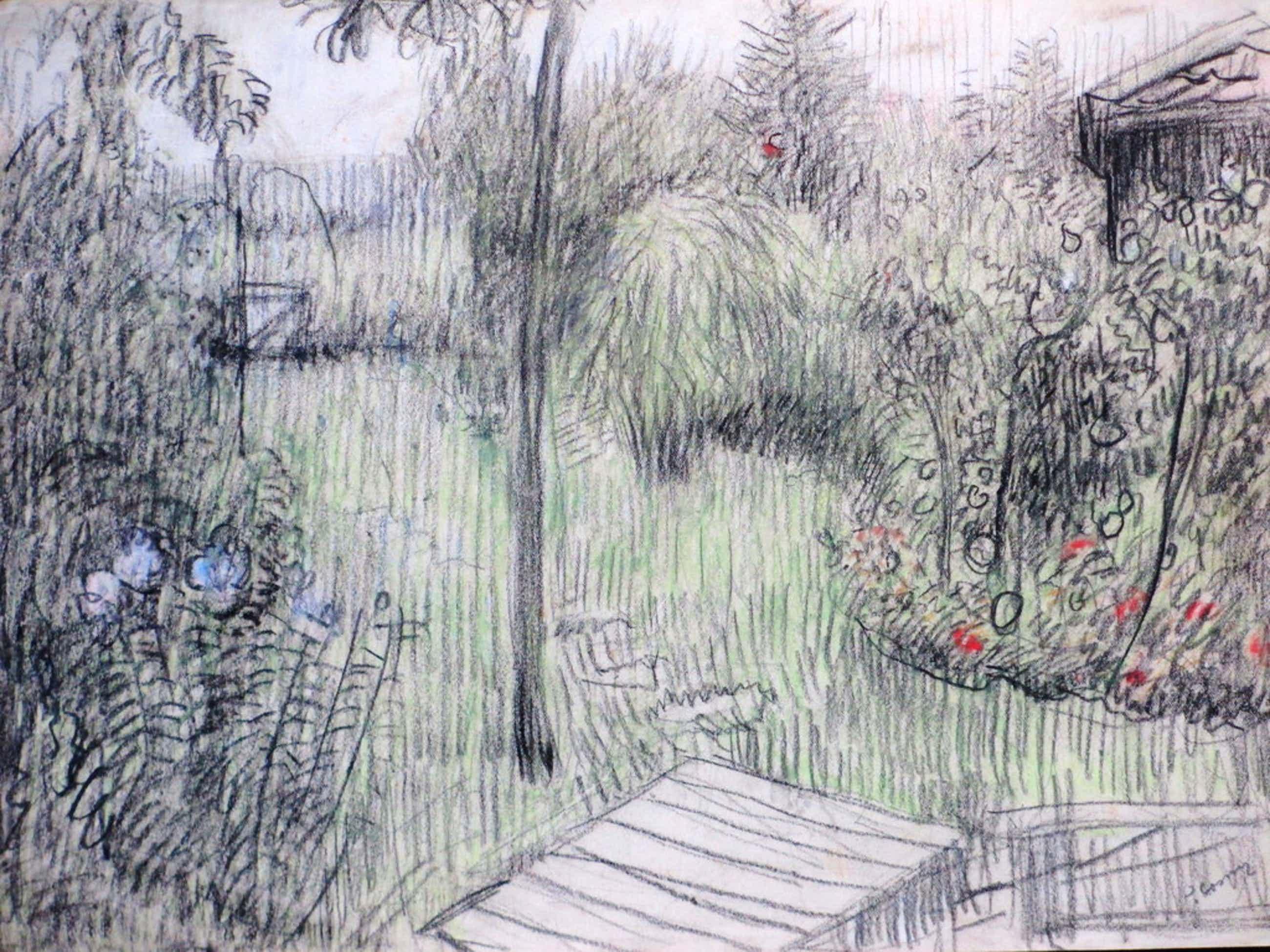 Jan Cossaar, Weelderige tuin, Gemengde techniek kopen? Bied vanaf 40!