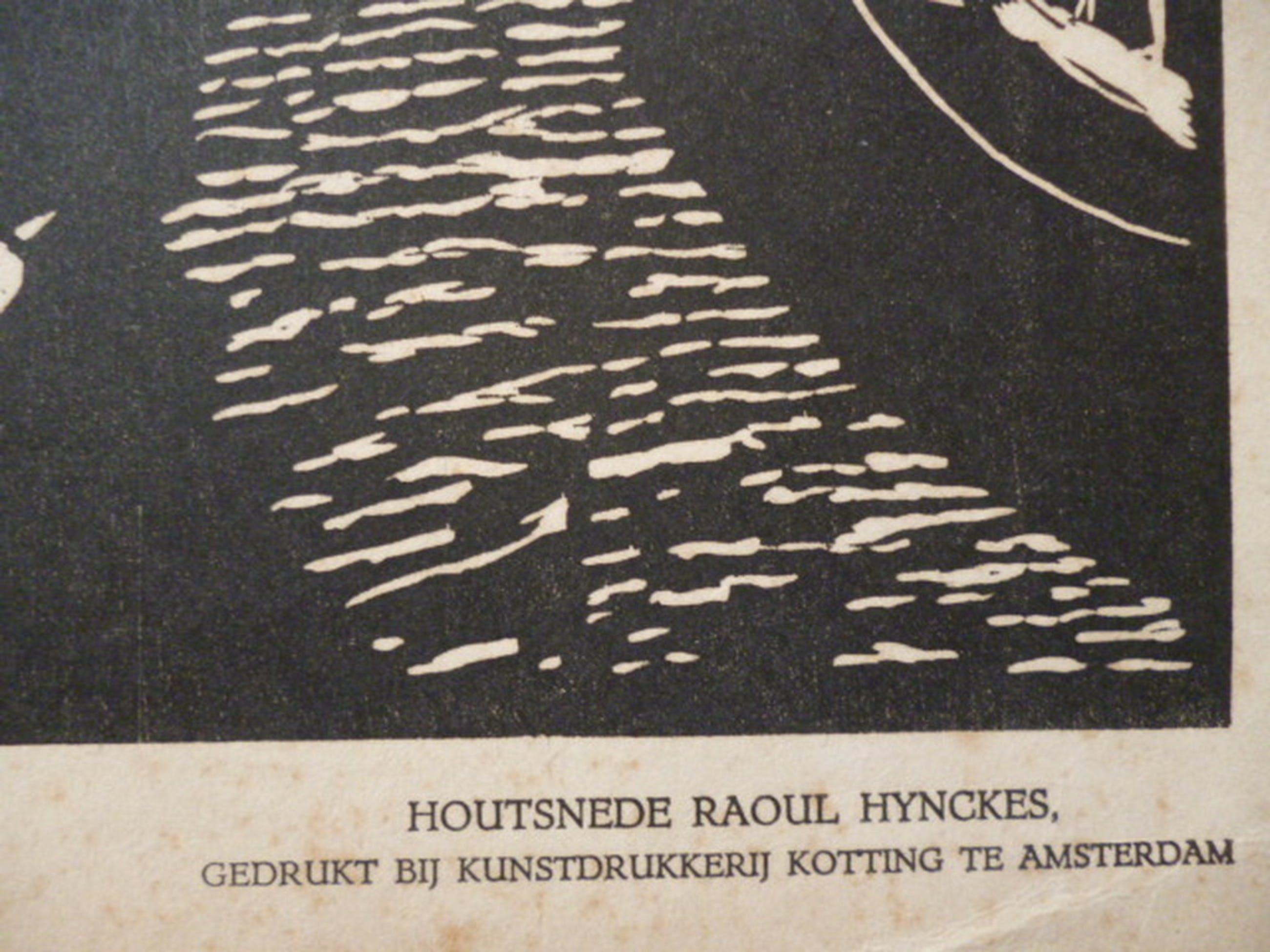 Raoul Hynckes - houtsnede - Geit bij molen kopen? Bied vanaf 25!