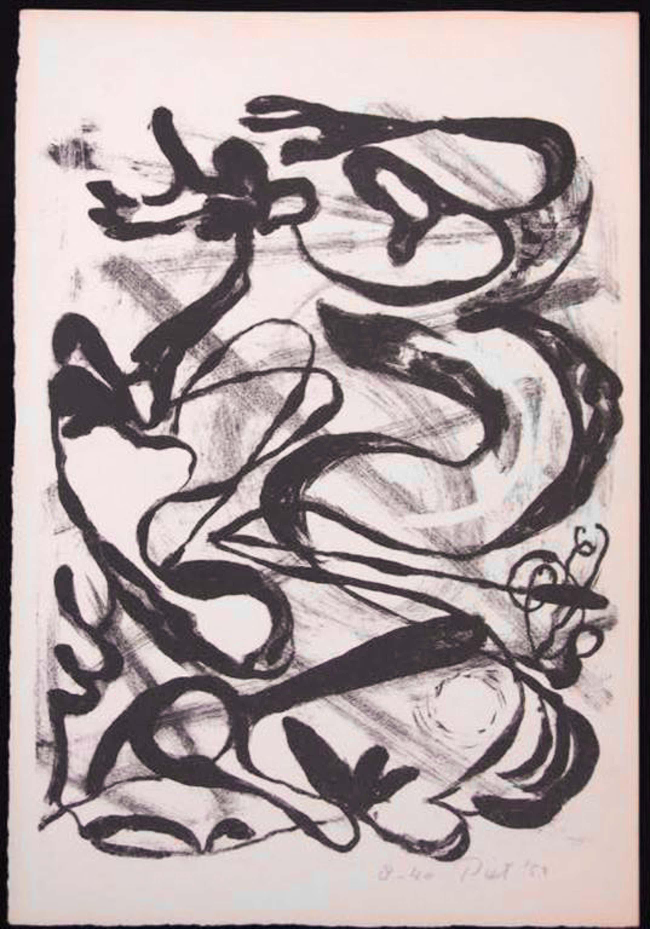 Piet van Stuivenberg: Litho, Zonder titel (Creatie 1952) kopen? Bied vanaf 35!