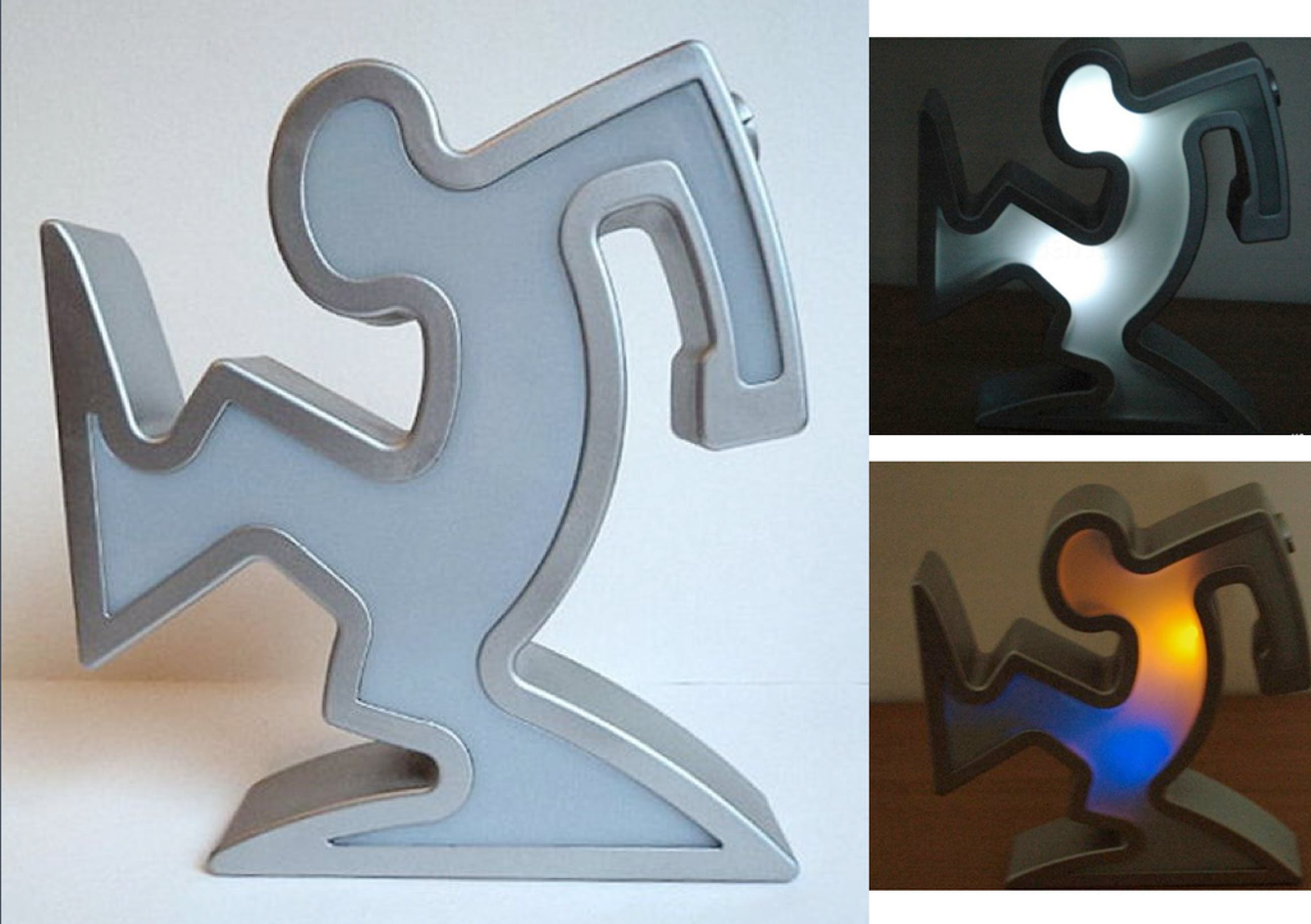 Osvaldo Cavandoci - Design lamp - Cartoon figuur 'La Linea' - veelkleurig licht kopen? Bied vanaf 1!