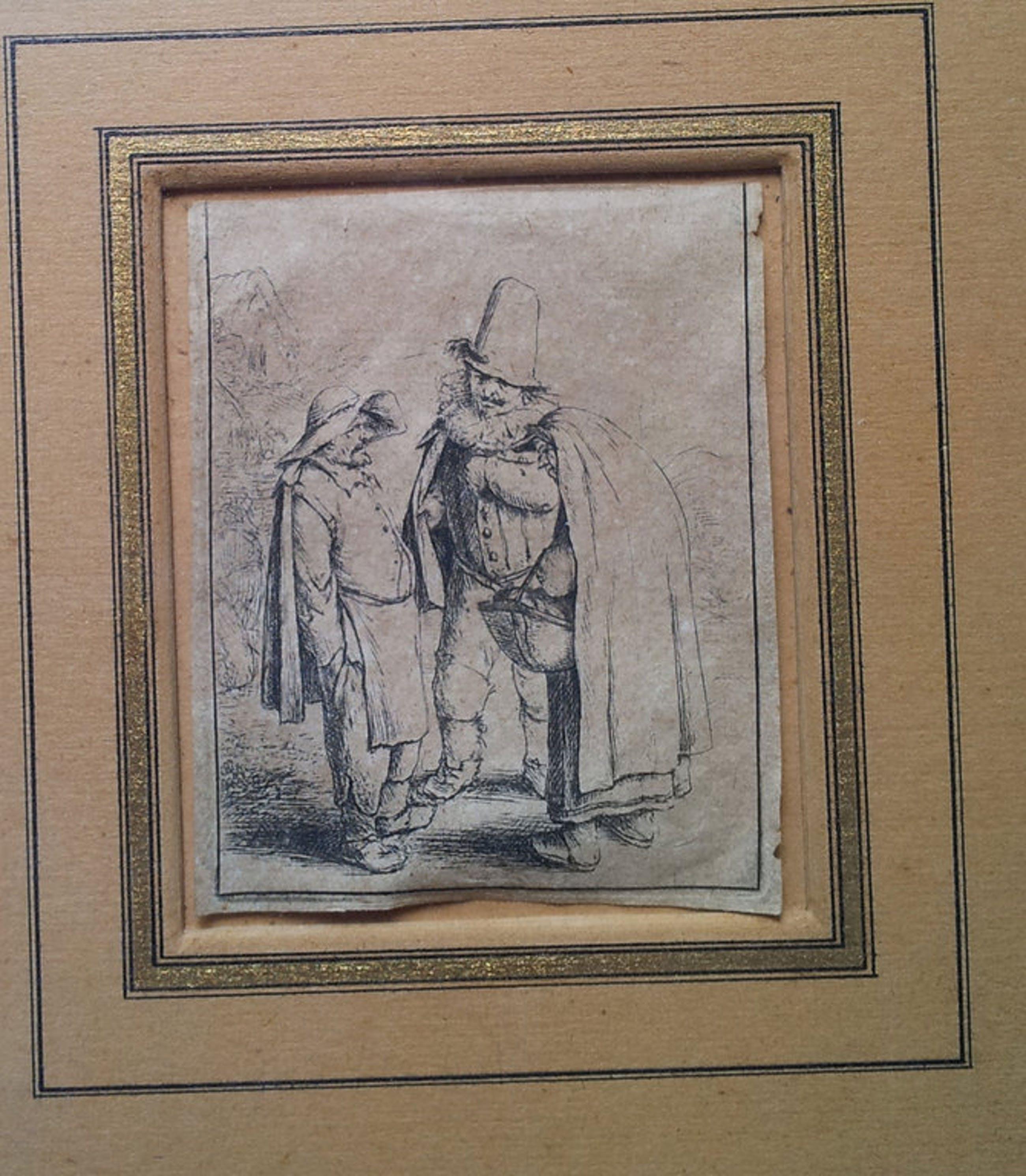 """Adriaen van Ostade """" Three Grosteque Figures"""" Etching kopen? Bied vanaf 400!"""