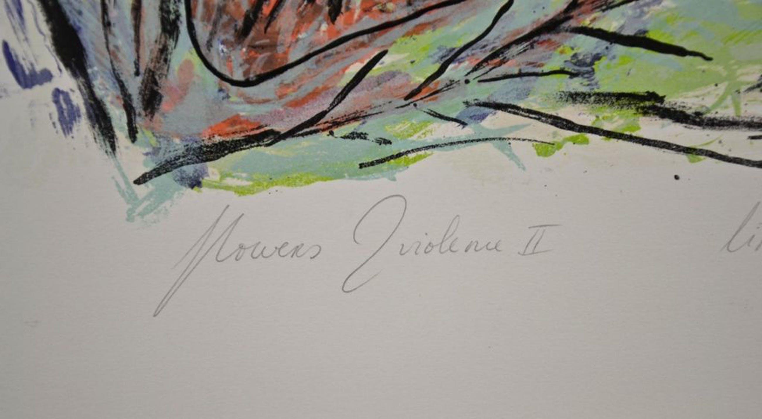 Anne-Marie Hoeven: Litho. Flowers & Violence II kopen? Bied vanaf 1!