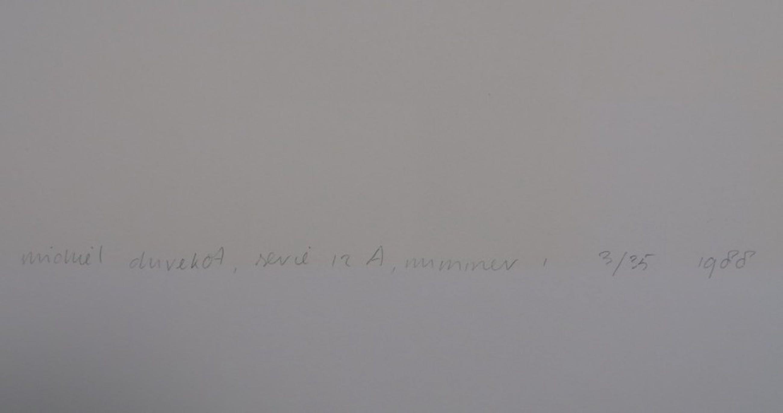 Michiel Duvekot: Linosnede, Geometrische compositie, Serie 12A nr. 1 kopen? Bied vanaf 1!