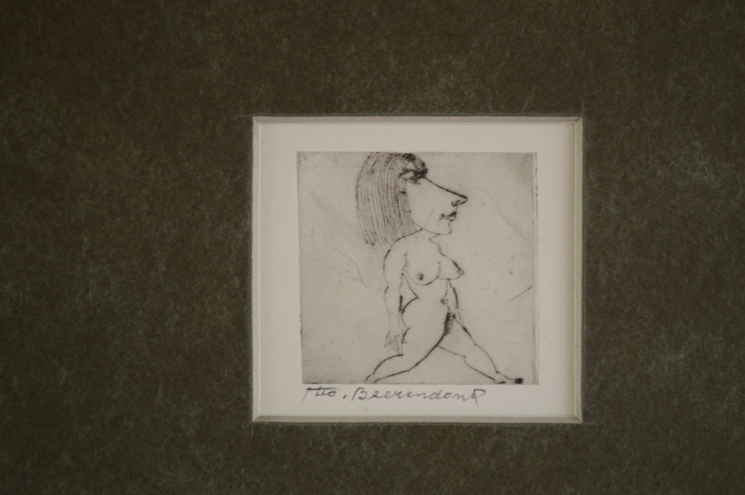Theo Beerendonk ( 1905-1979) ets, aquatint 6 x 6  ( 30x30) 1970 kopen? Bied vanaf 50!