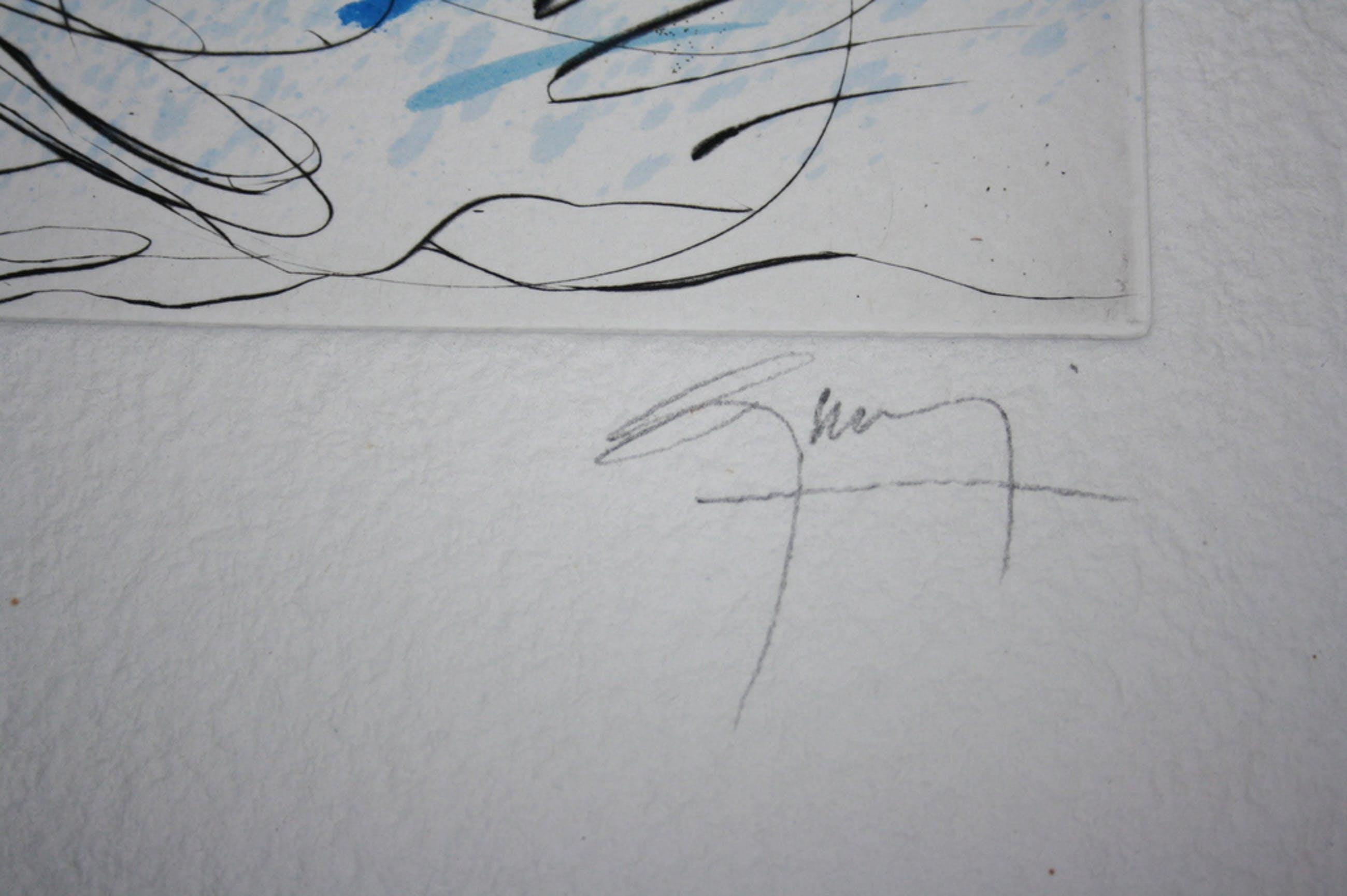 Jean-Marie Guiny(1954-2010) :grafiek,paard  kopen? Bied vanaf 10!