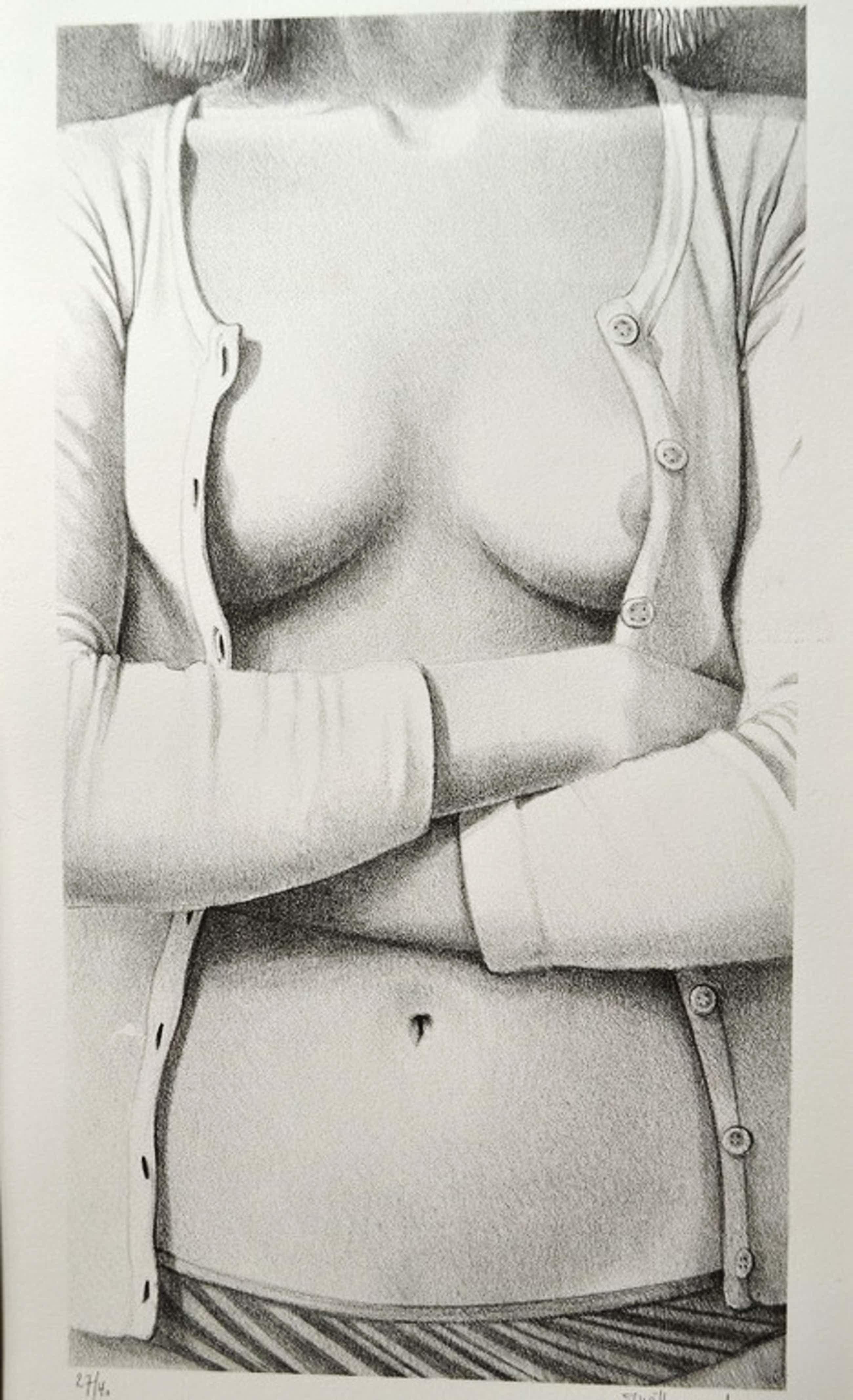 Wittevrongel, litho, vrouw torso kopen? Bied vanaf 140!