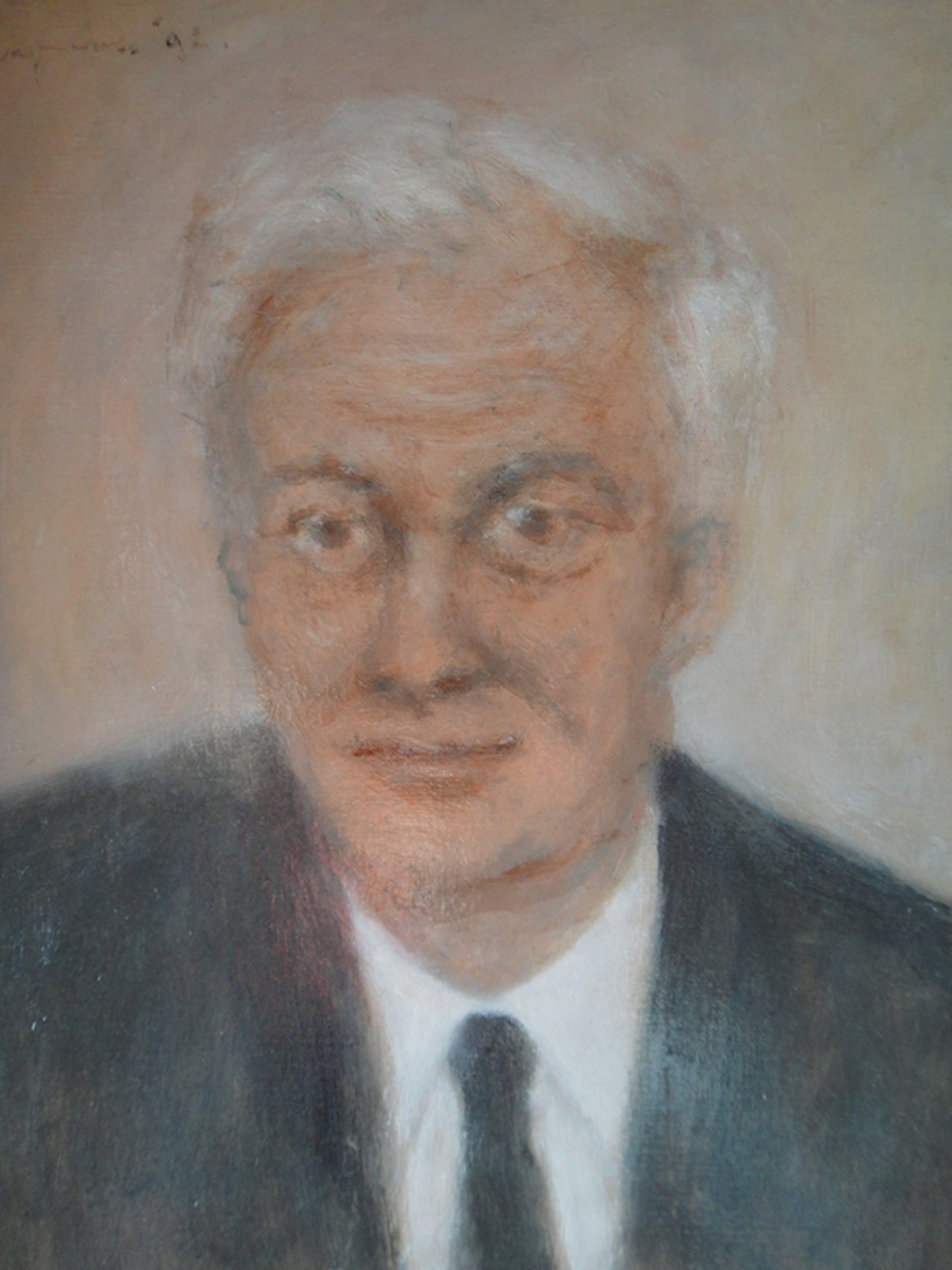 Theo Swagemakers - olieverf op board - portret van professor JN van Wessem kopen? Bied vanaf 1!