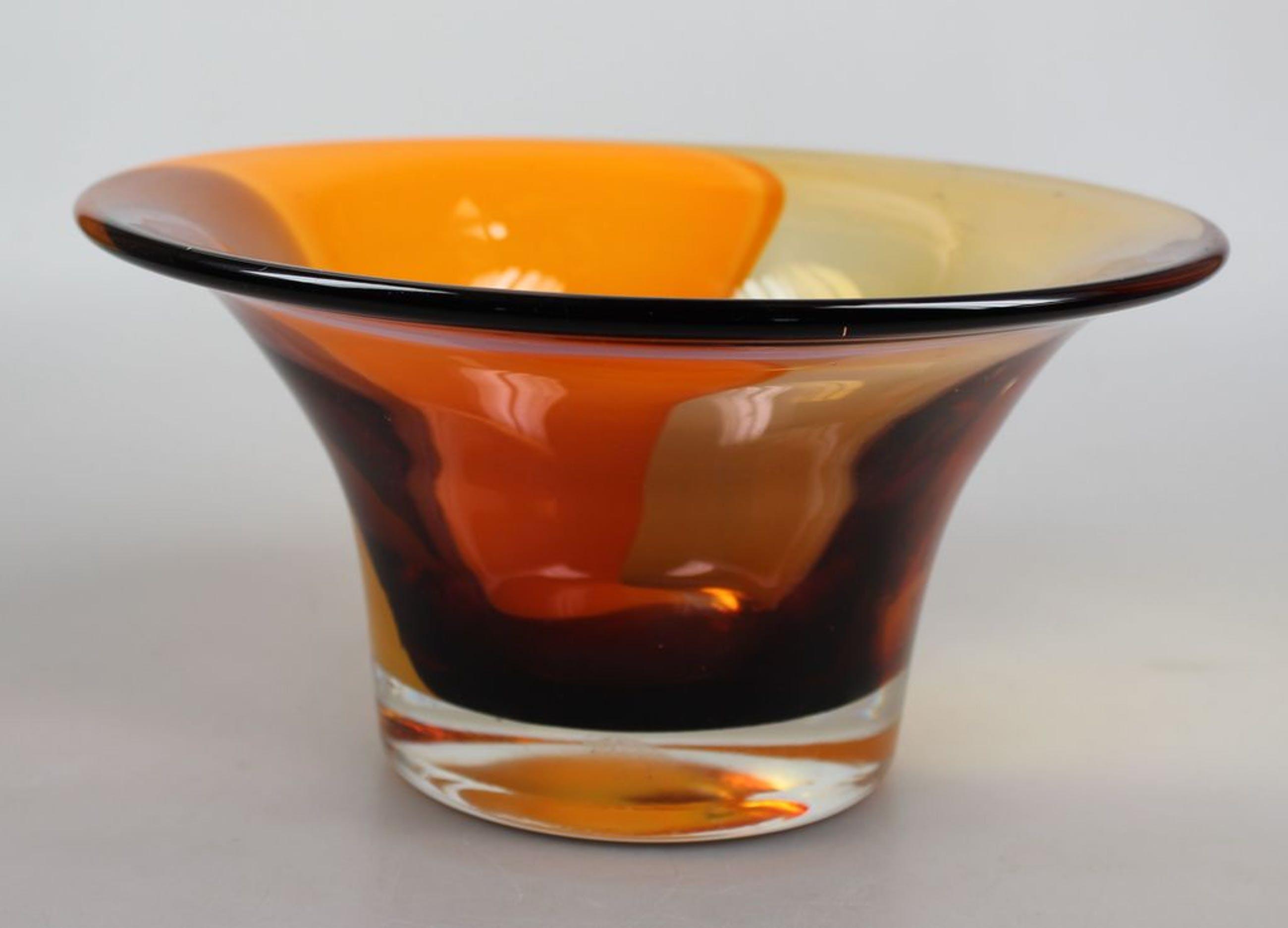 Bernard Heesen voor Rabobank meerkleurige glazen schaal kopen? Bied vanaf 30!