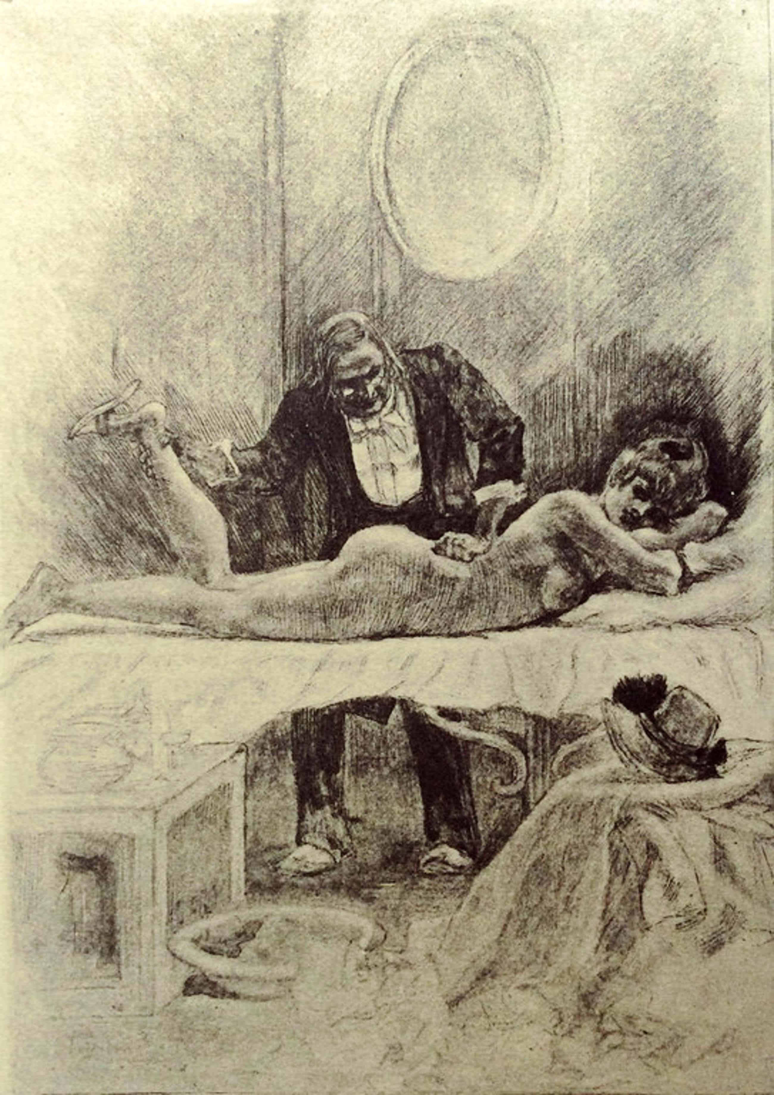Felicien Rops - Le Massage - heliogravure, 1908 kopen? Bied vanaf 225!