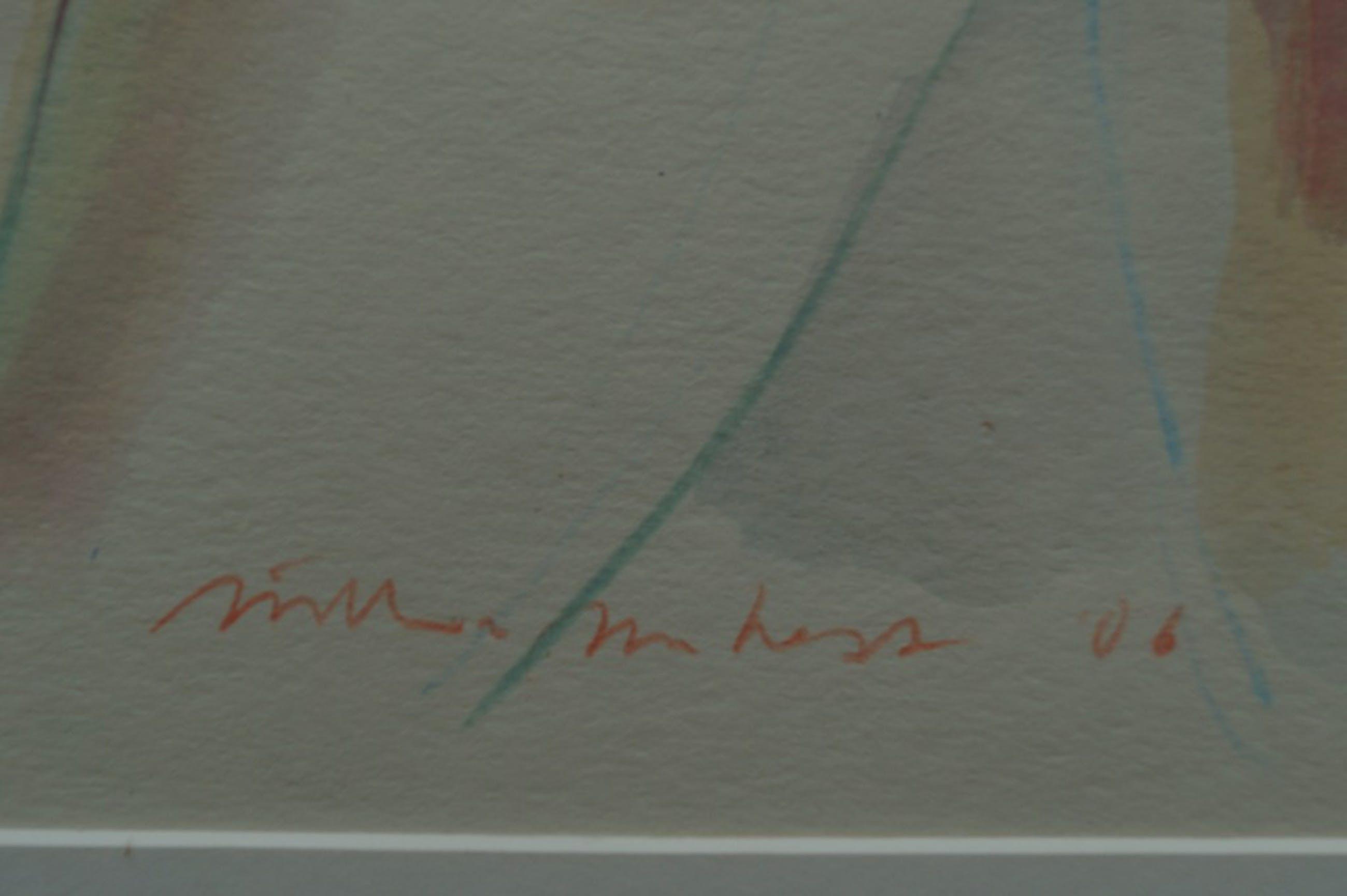 Willem van Hest - tekening/aquarel met passepartout - 2006 kopen? Bied vanaf 20!