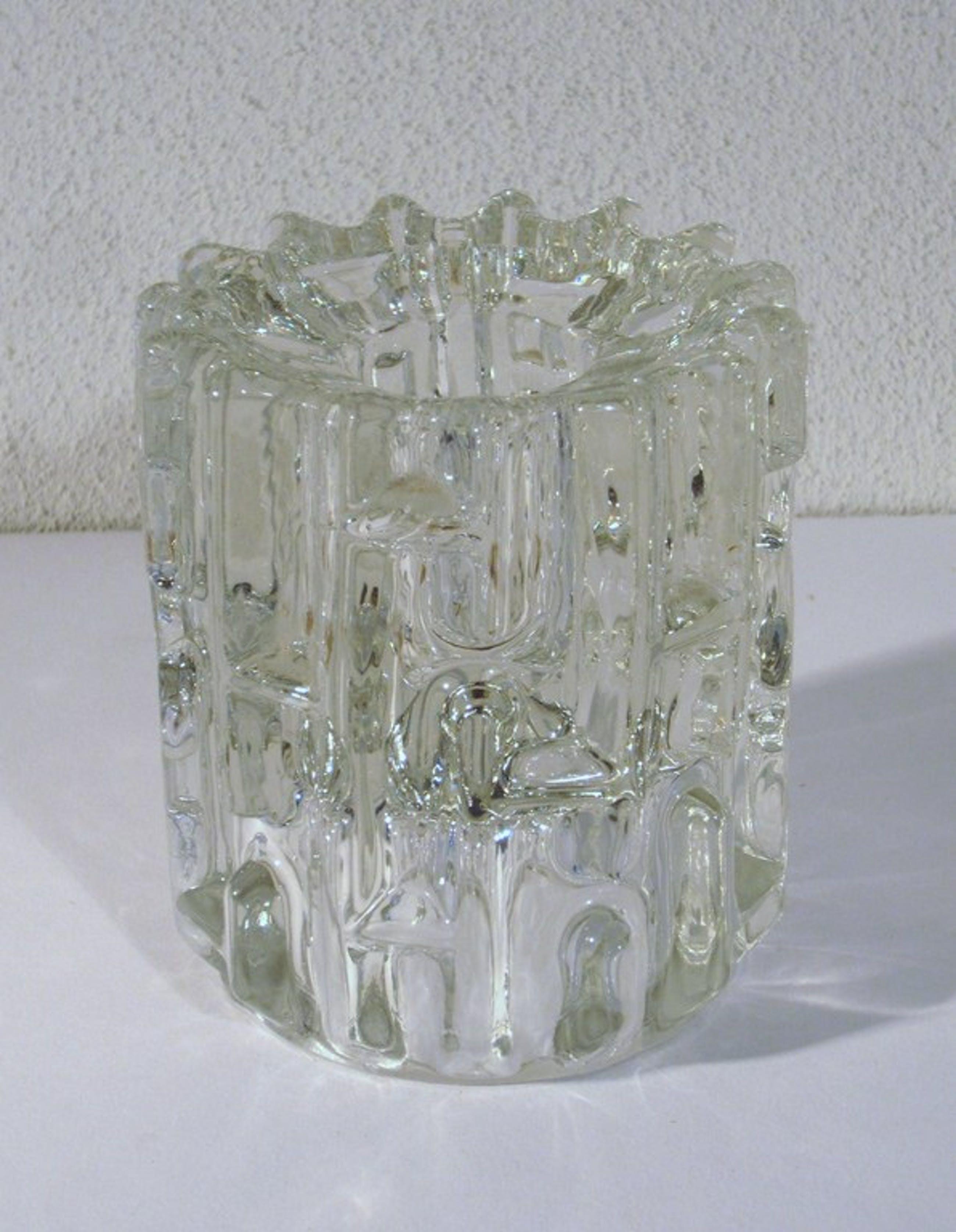 Frantisek Vizner - Geometrische kandelaar - SKLO Union - Glaskunst Tsjechië kopen? Bied vanaf 1!