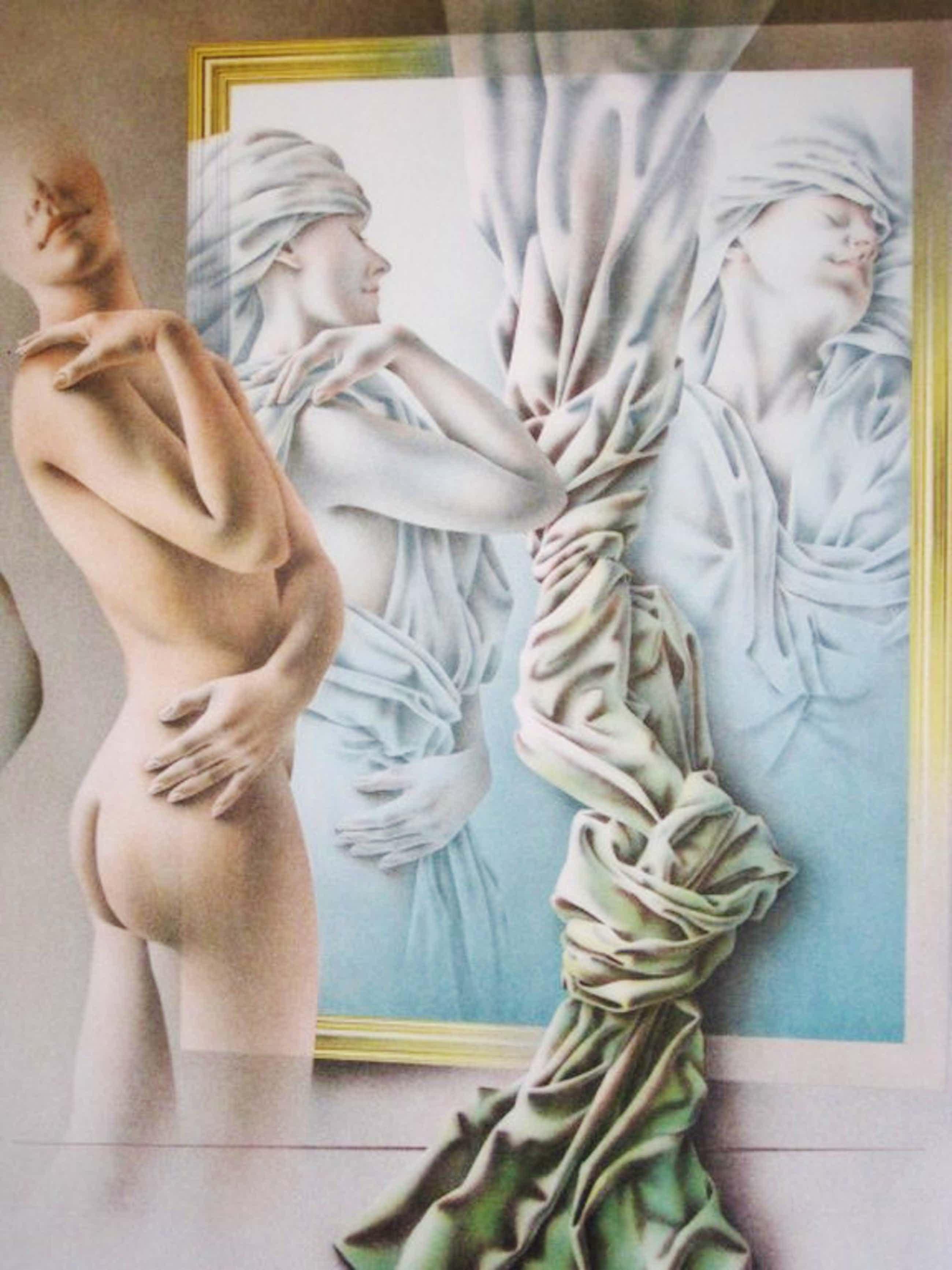 """Groot Realistisch werk van Poen de Wijs (1948-2014) Lithografie """"Song of Songs"""" kopen? Bied vanaf 55!"""