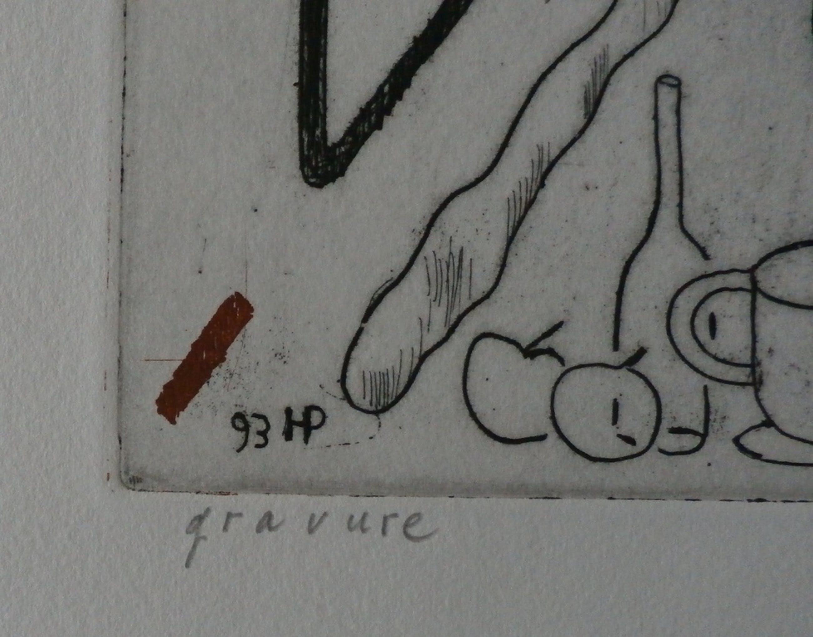 "Hannes Postma - Ets/Aquatint - ""Gravure"" kopen? Bied vanaf 35!"