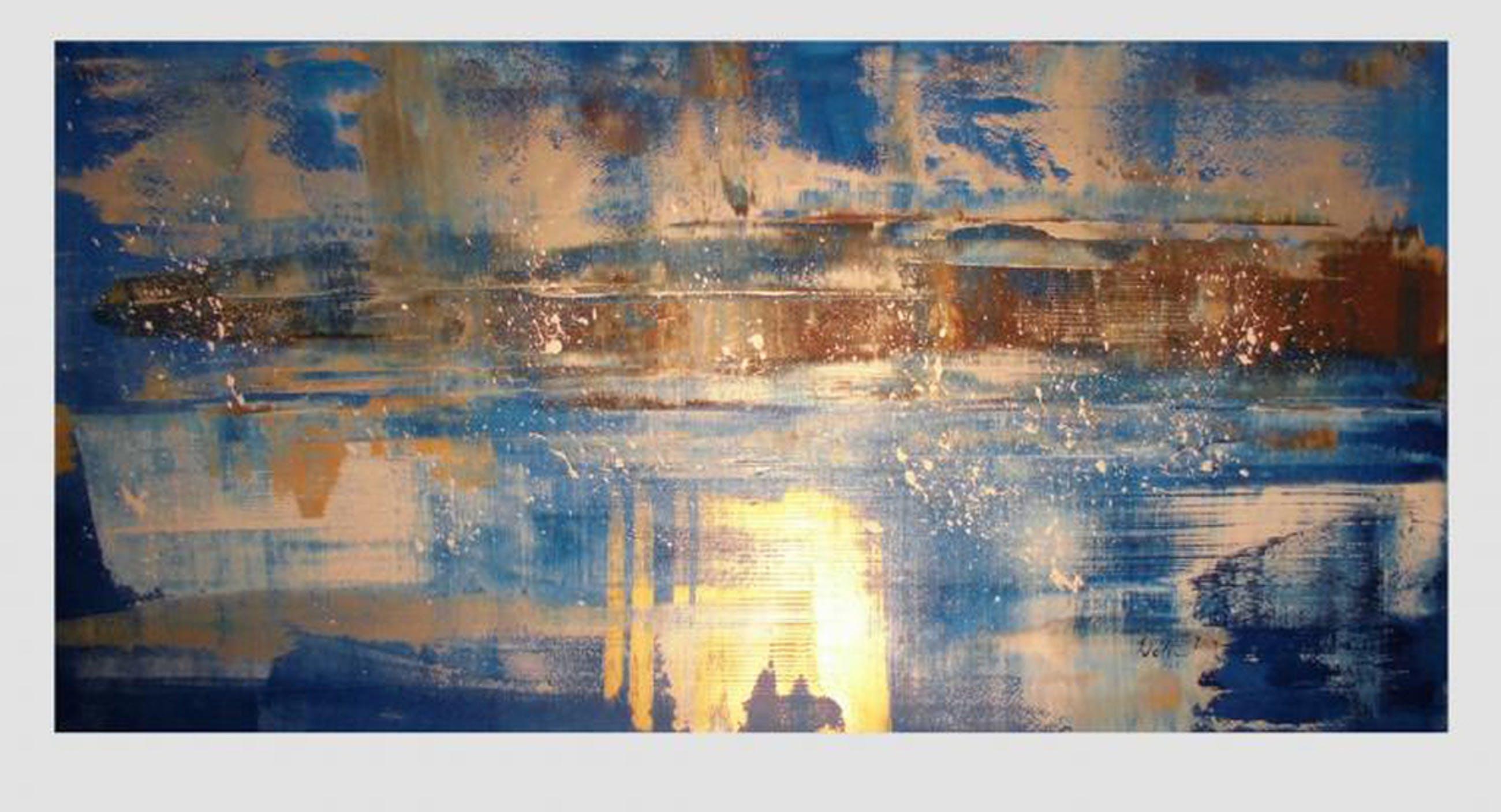Super Orgineel abstract schilderij (XXL!) Acryl op doek verkocht! Bekijk MC-99