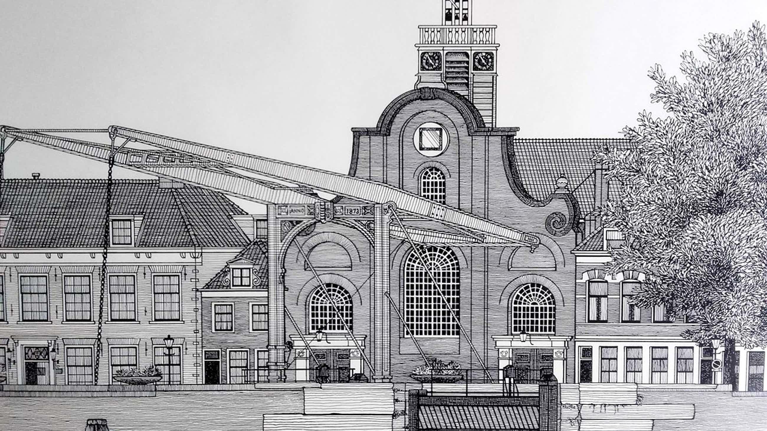 Sees Vlag  - Delfshaven Rotterdam - Zeefdruk - Gesigneerd 1979 kopen? Bied vanaf 56!