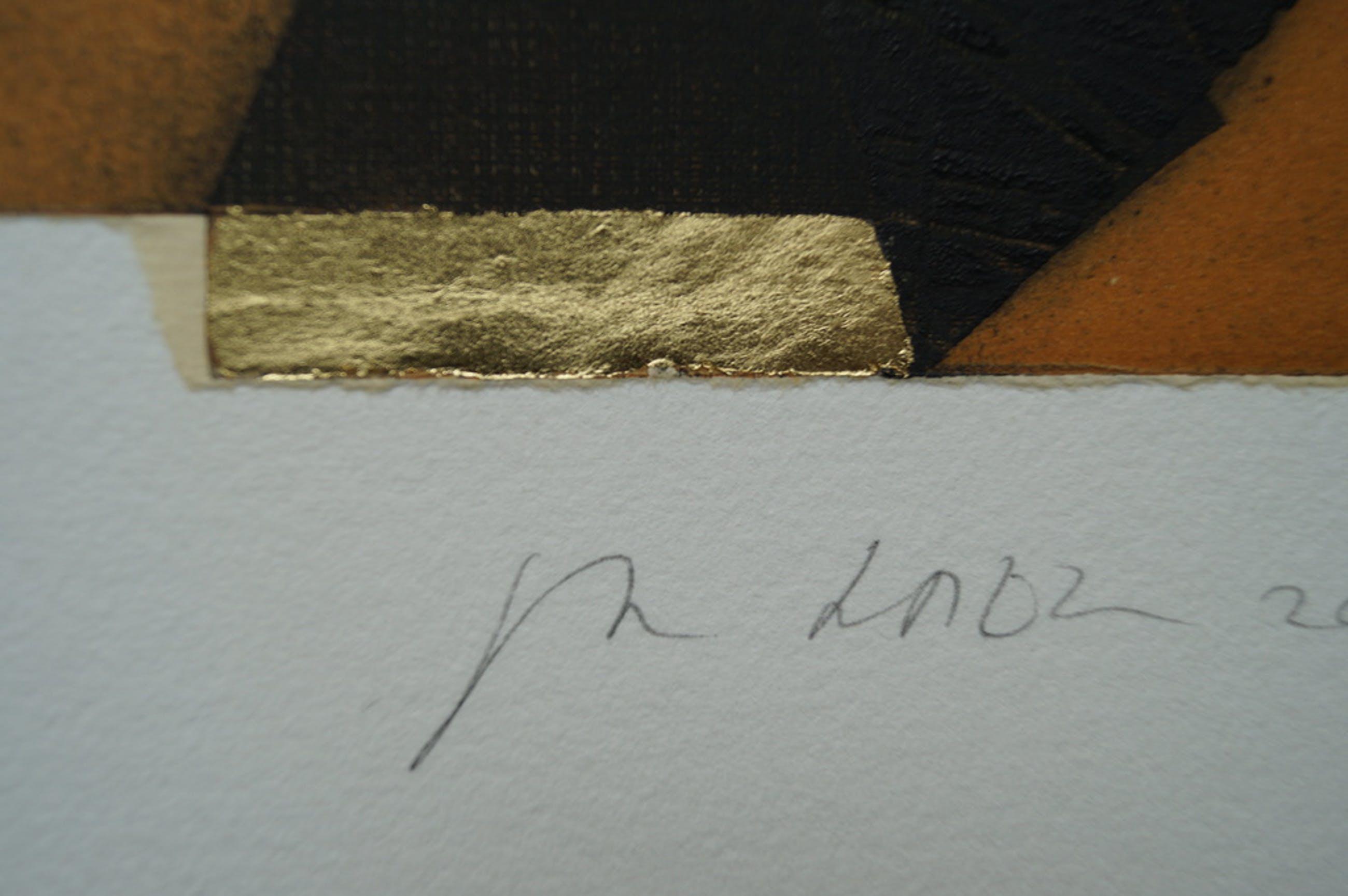Jan Naezer - ets met bladgoud - 2003 - 20 ex. kopen? Bied vanaf 1!