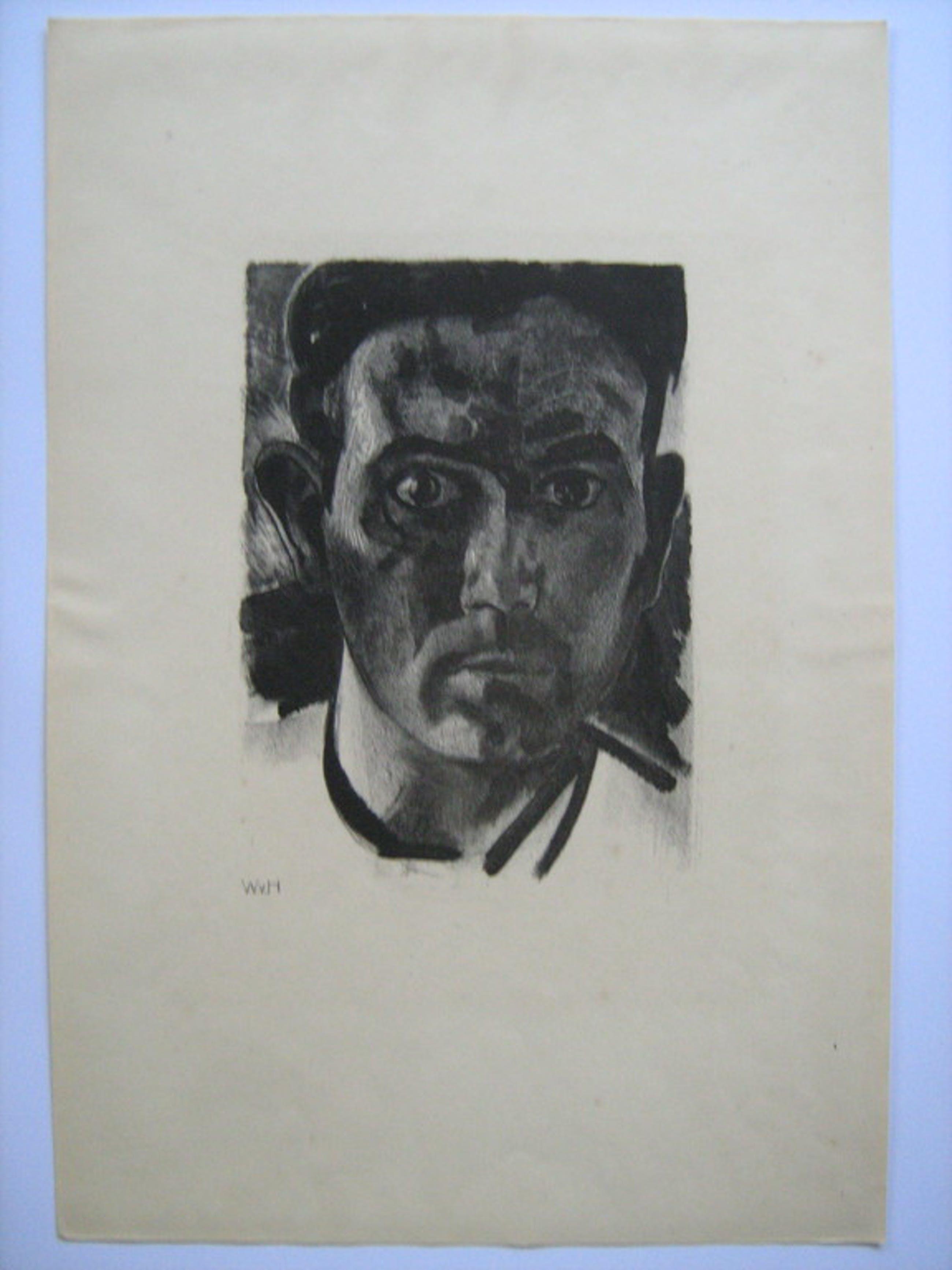 Wout van Heusden - zelfportret - litho - 1929 kopen? Bied vanaf 35!