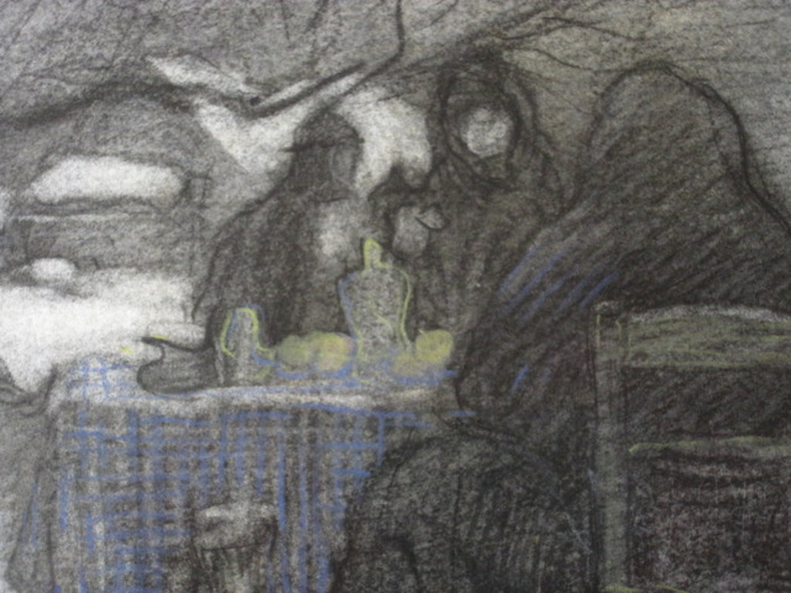 """Bijzonder """"winter en ijspret"""" Pastel van schilder, illustrator Pol Dom 1885-1978 kopen? Bied vanaf 1!"""