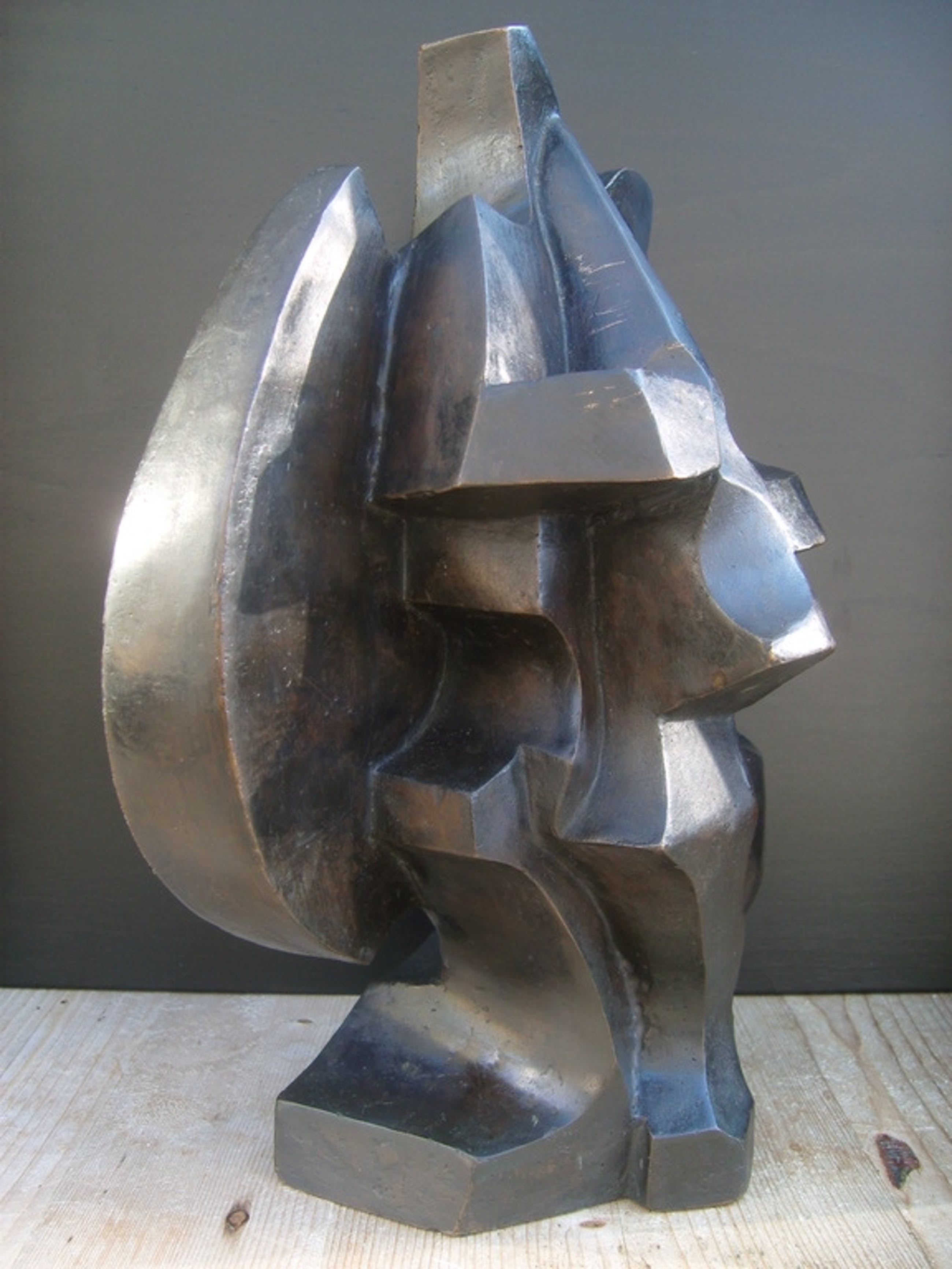 Cor Jong: Kubistisch topbeeld  kopen? Bied vanaf 1250!