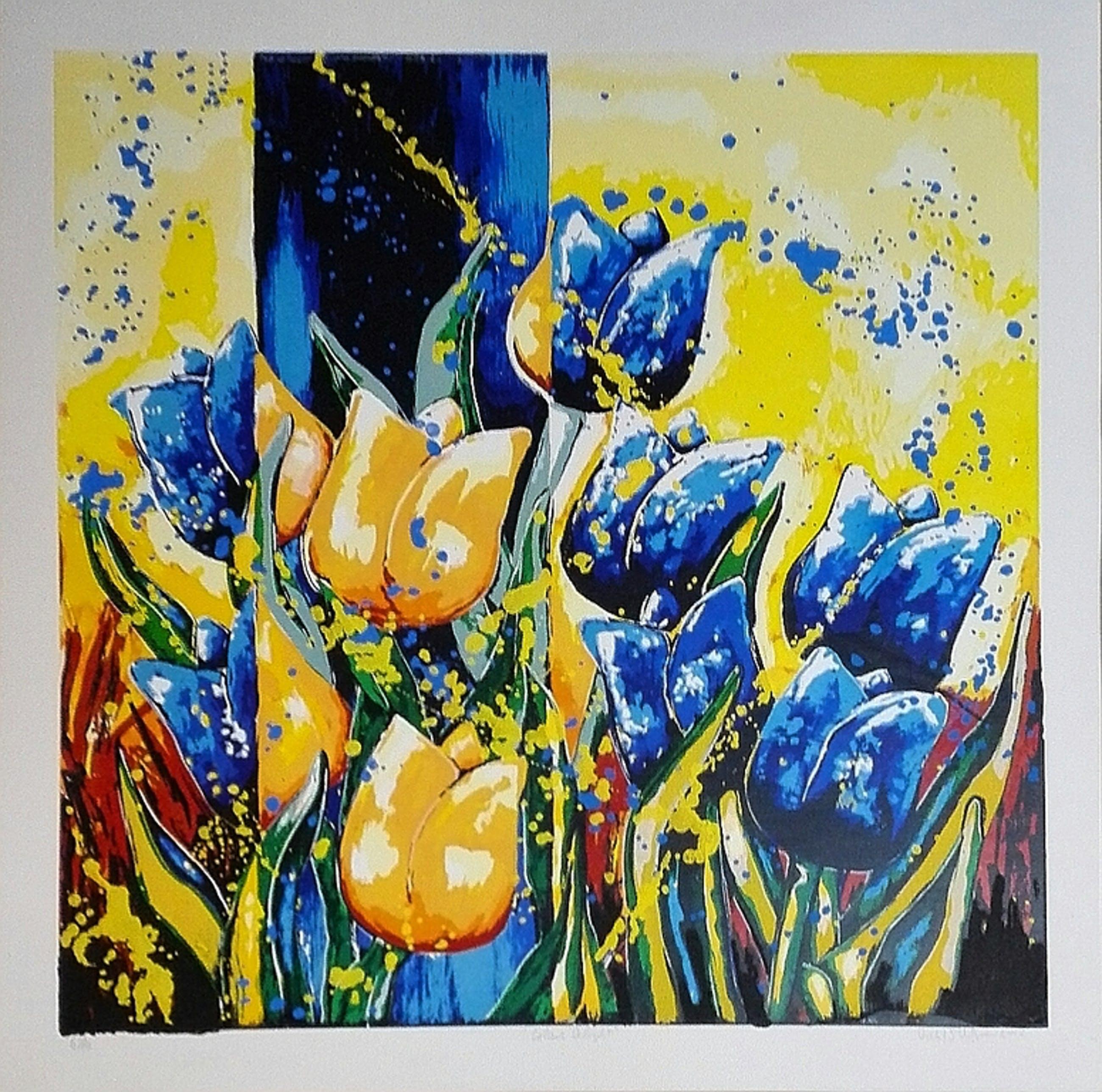 Roel Hofman, zeefdruk op papier, Titel: Colour delight kopen? Bied vanaf 1!