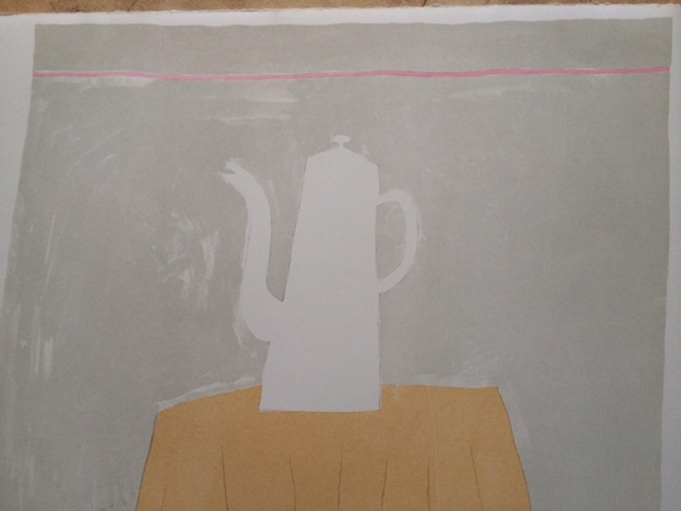 Klaas Gubbels, litho, Koffiekan op tafel kopen? Bied vanaf 475!