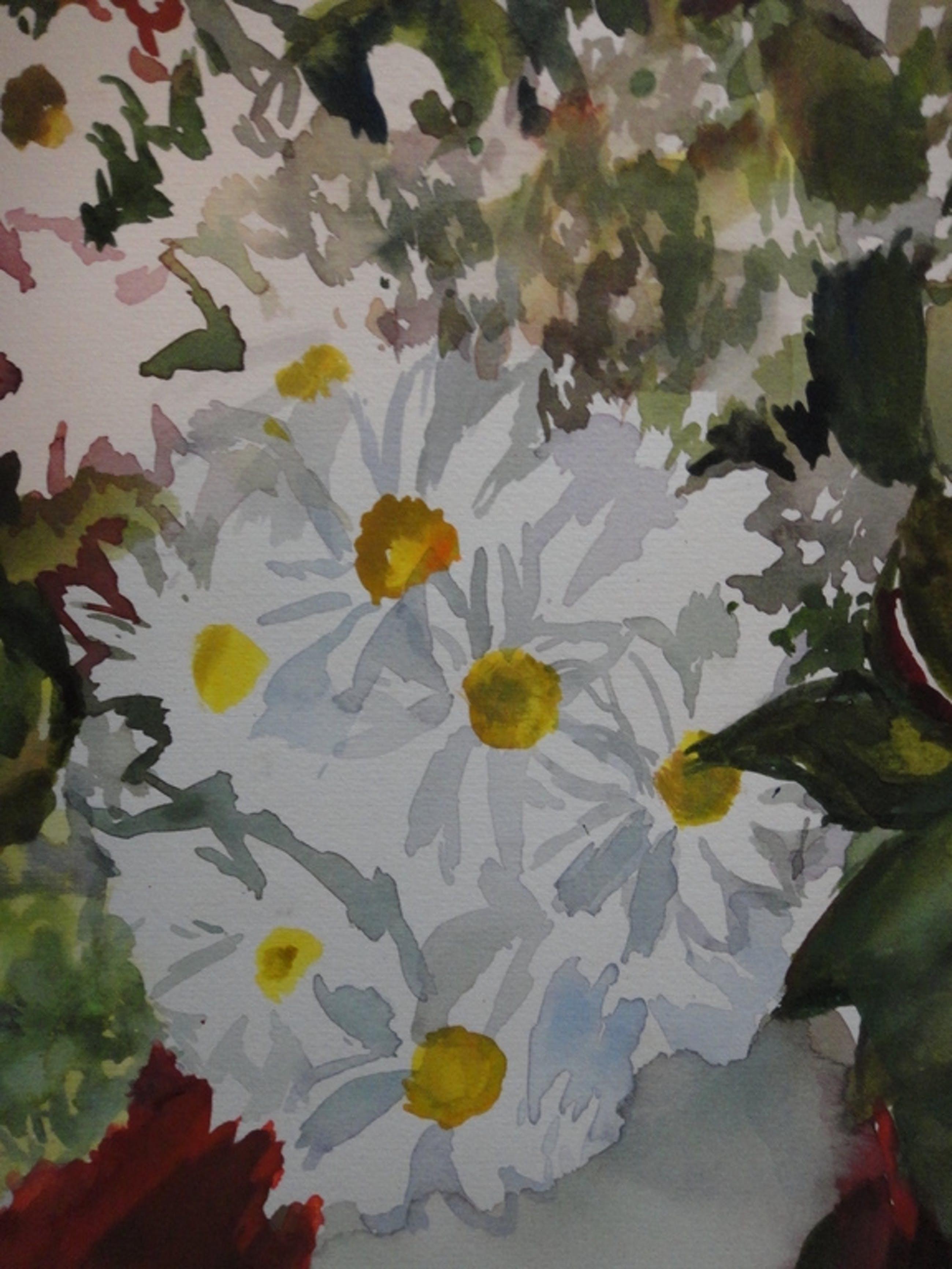 Claudine Doorman, aquarel, bloemen kopen? Bied vanaf 10!
