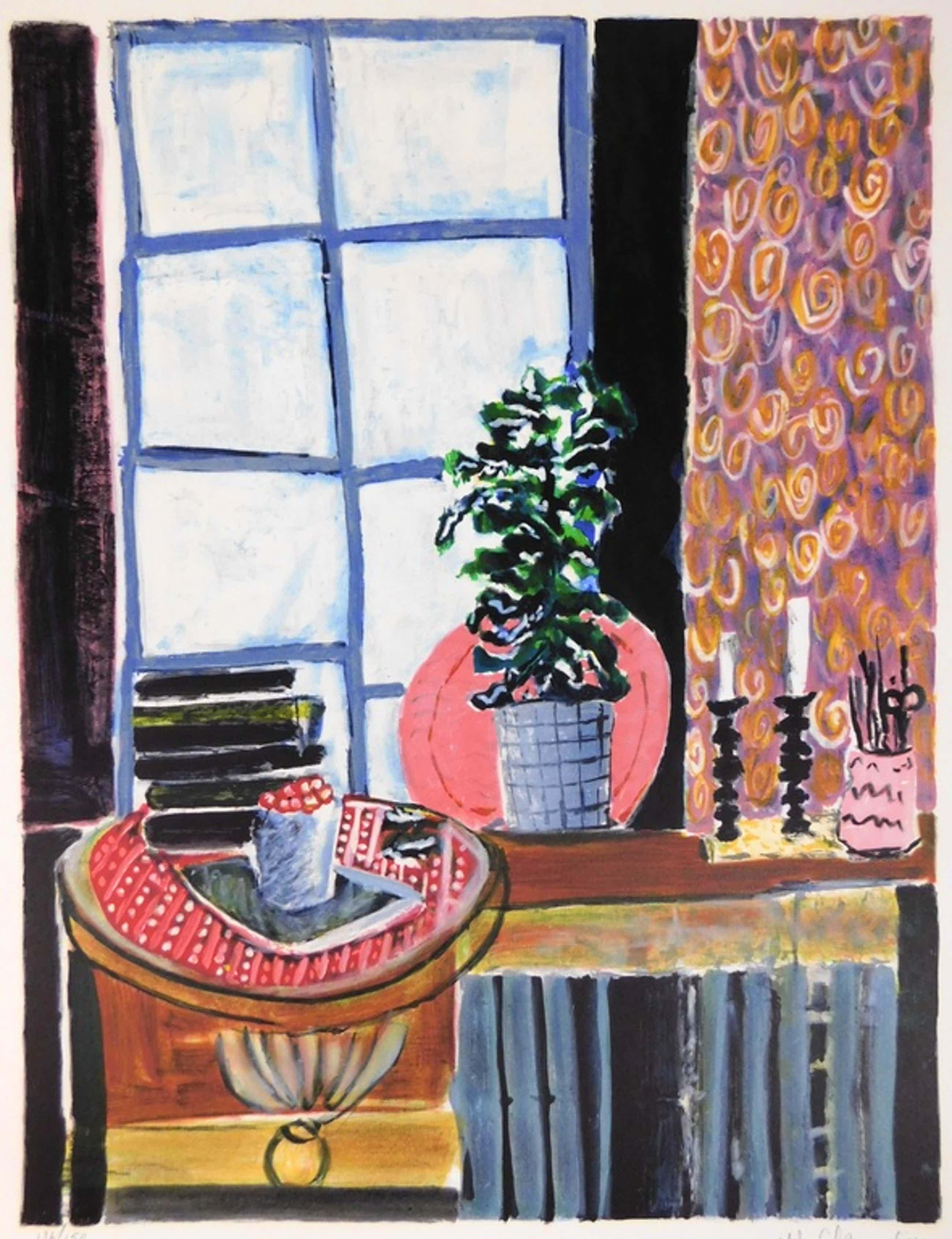 Wendy Chazin - Kleurenlitho - Still-life with Candlesticks kopen? Bied vanaf 75!