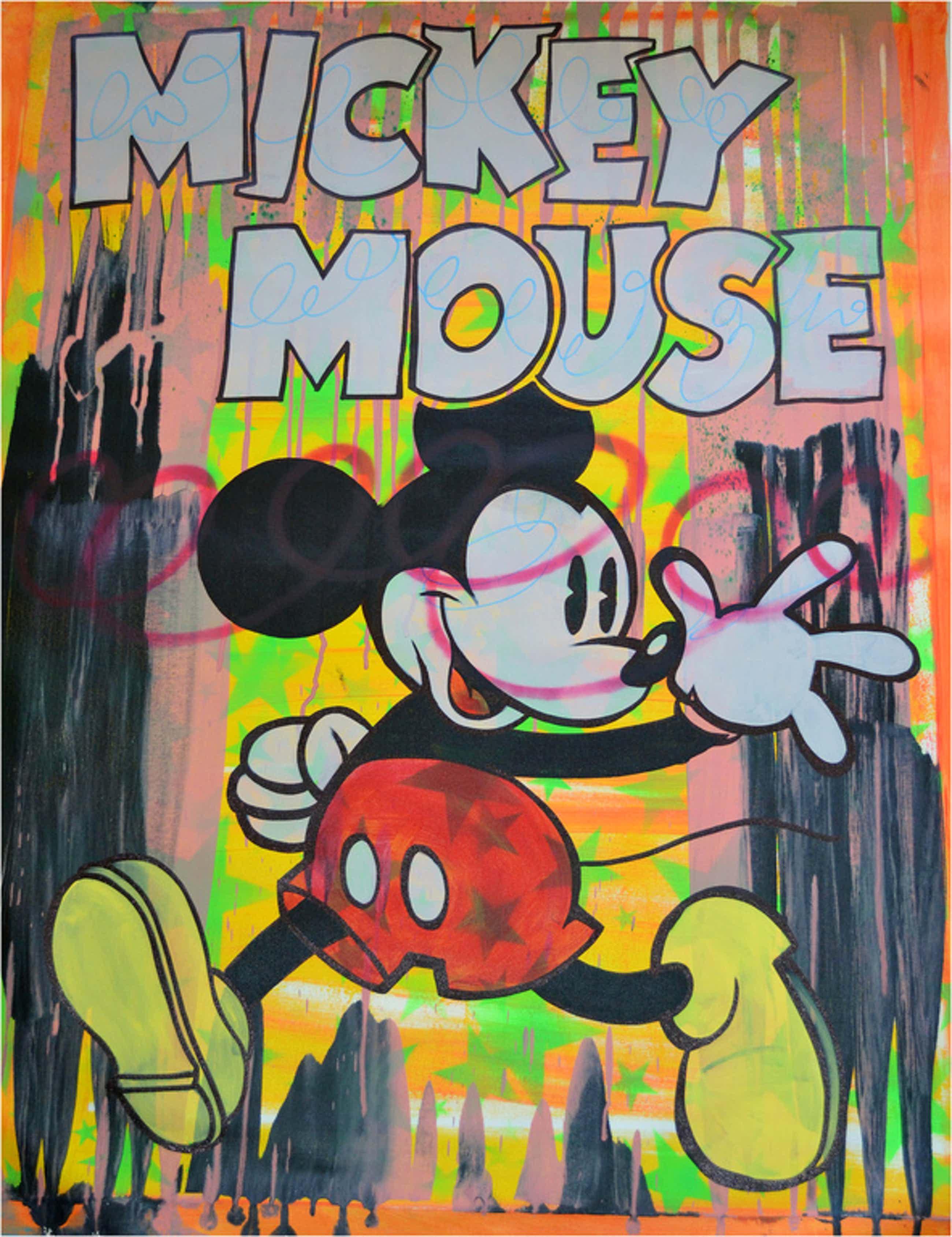 Dillon Boy, Mouse Pride, uniek origineel werk op groot doek, COA, 2015 kopen? Bied vanaf 900!