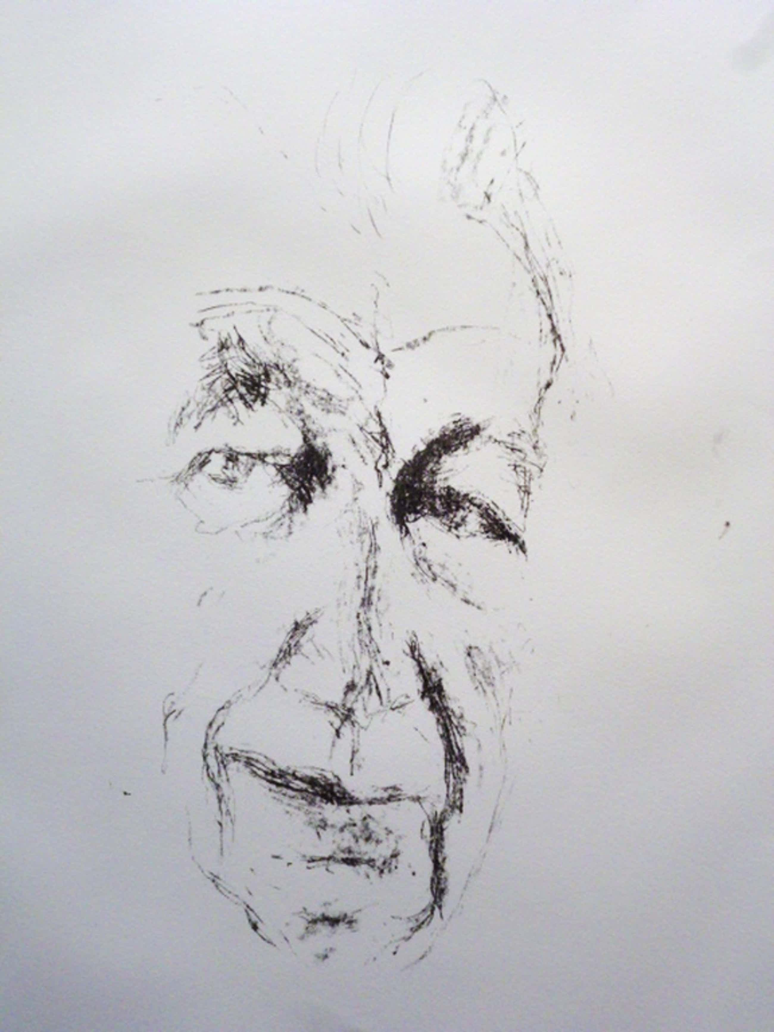 Paul Citroen - litho - Portret Willem Sandberg kopen? Bied vanaf 50!