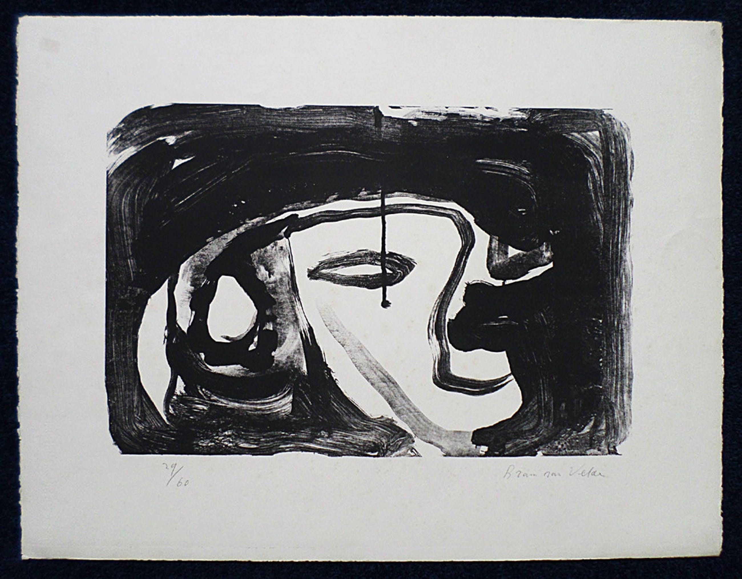 Bram van Velde - Compositie in Zwart Wit, litho kopen? Bied vanaf 190!