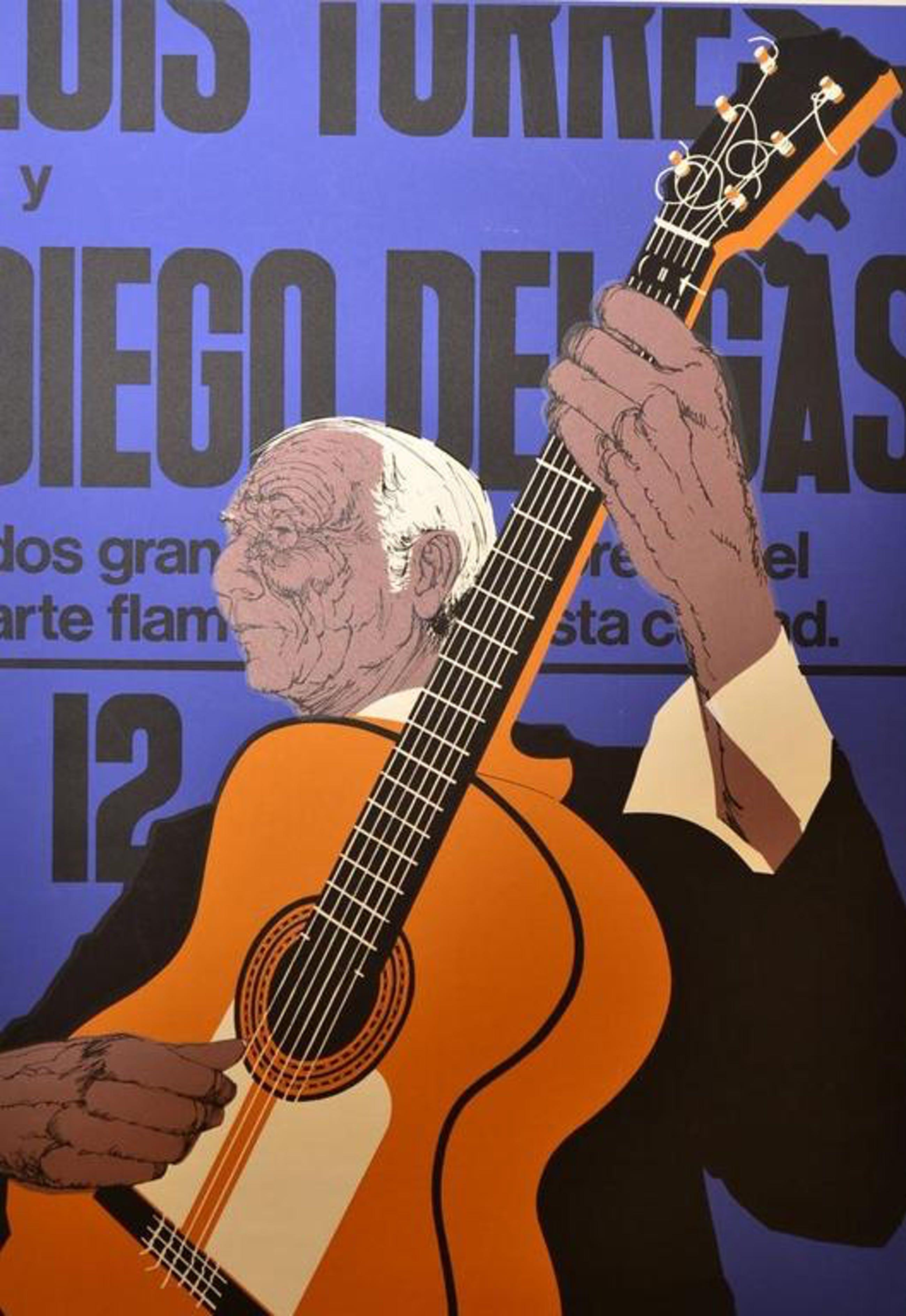 Onbekend: Zeefdruk 'Spaanse gitarist', 1975 kopen? Bied vanaf 1!